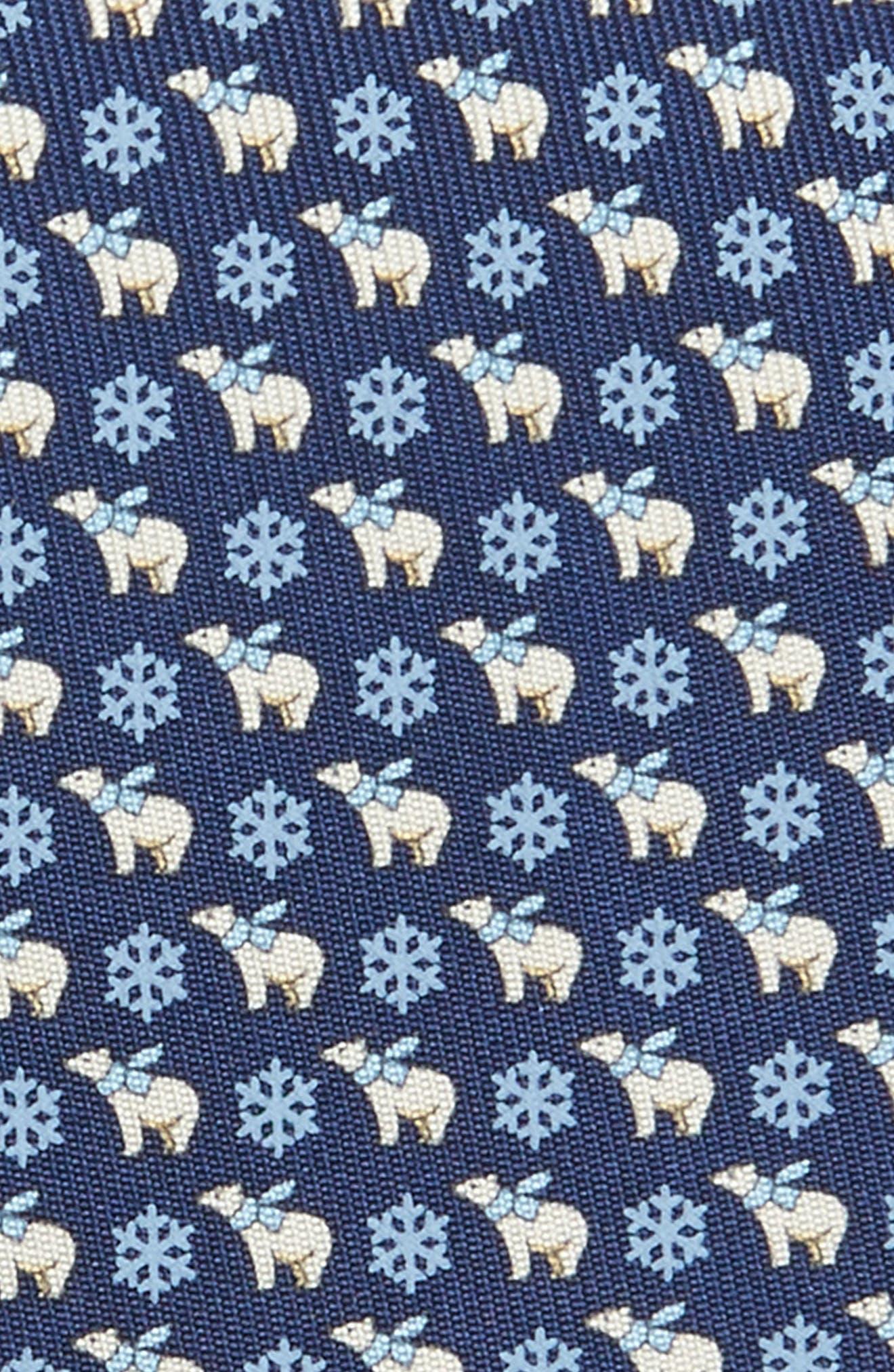 Bear Print Silk Tie,                             Alternate thumbnail 2, color,                             491