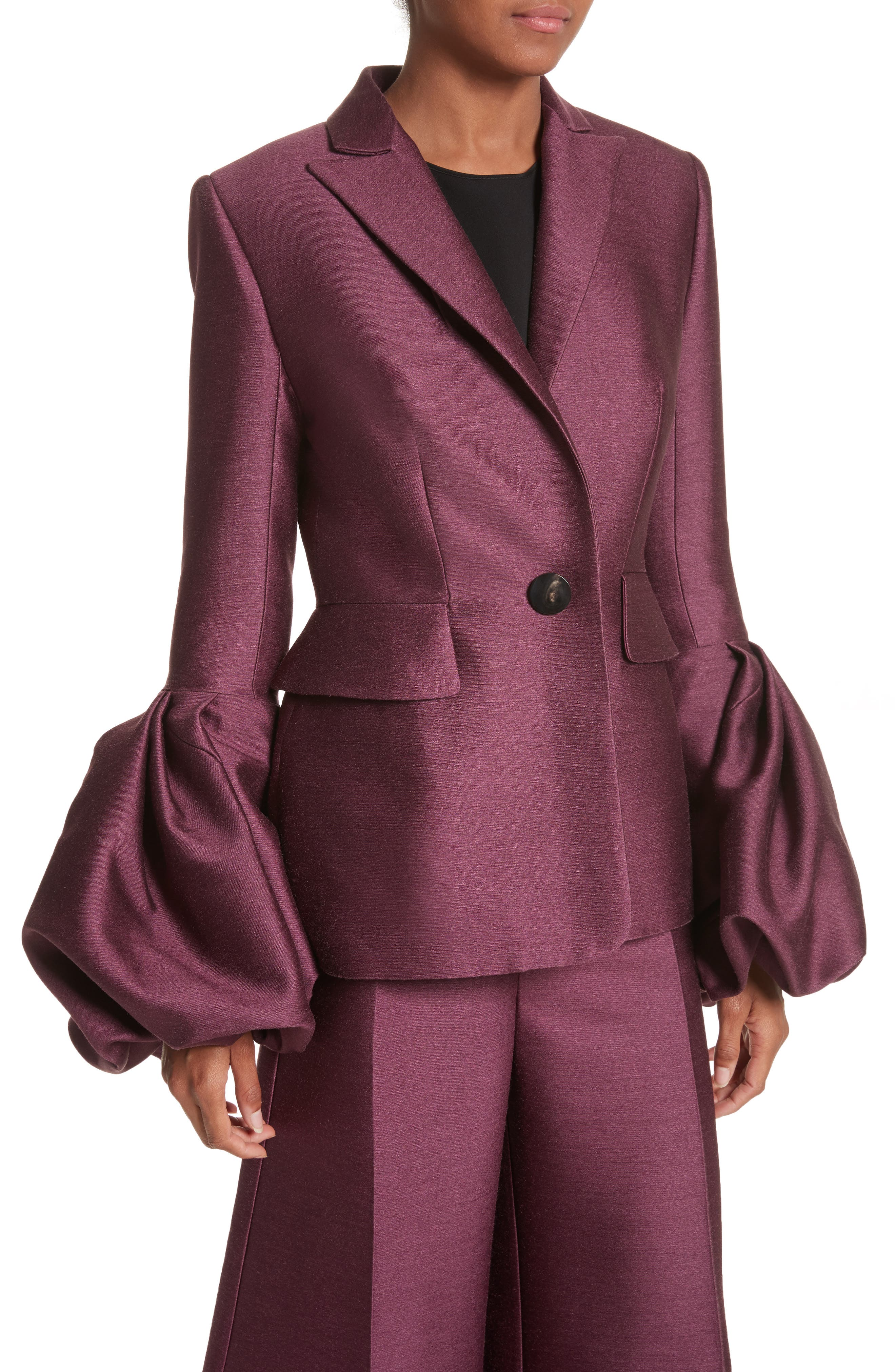Narika Wool & Silk Jacket,                             Alternate thumbnail 4, color,                             500