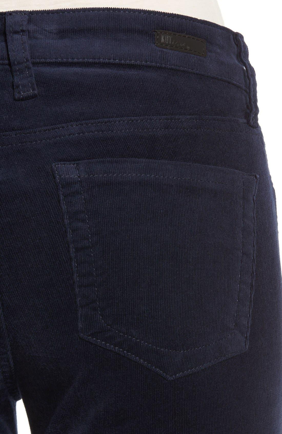 'Diana' Stretch Corduroy Skinny Pants,                             Alternate thumbnail 281, color,