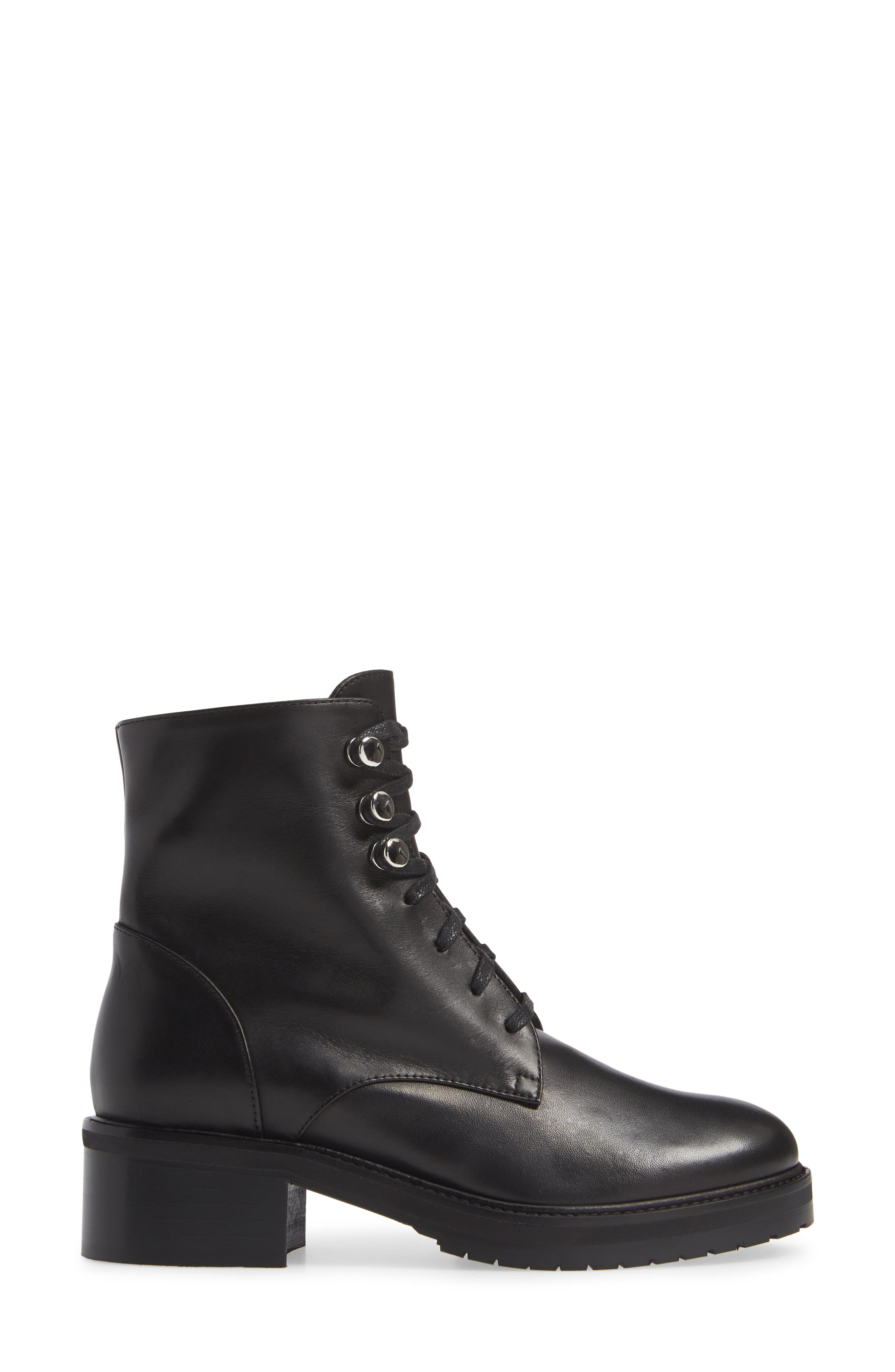 Leora Boot,                             Alternate thumbnail 3, color,                             BLACK LEATHER