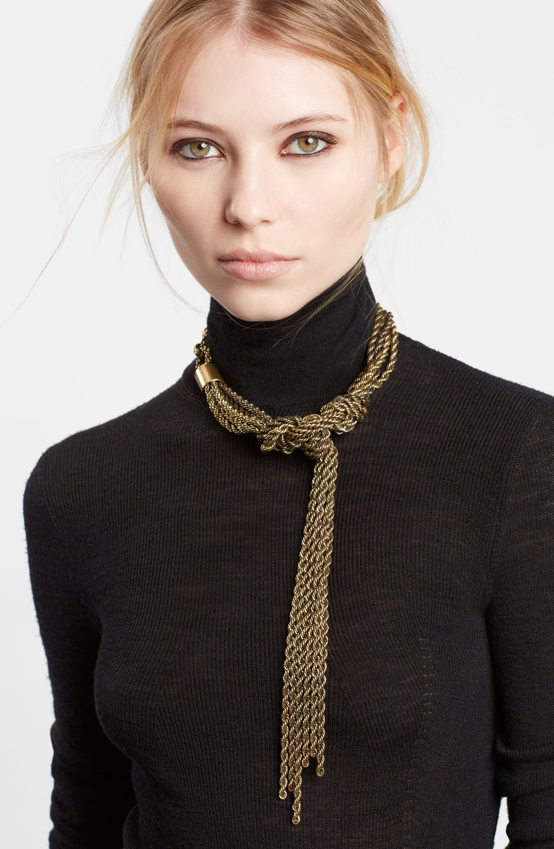 LANVIN | Women's Lanvin Tight Knot Brass Necklace | Goxip