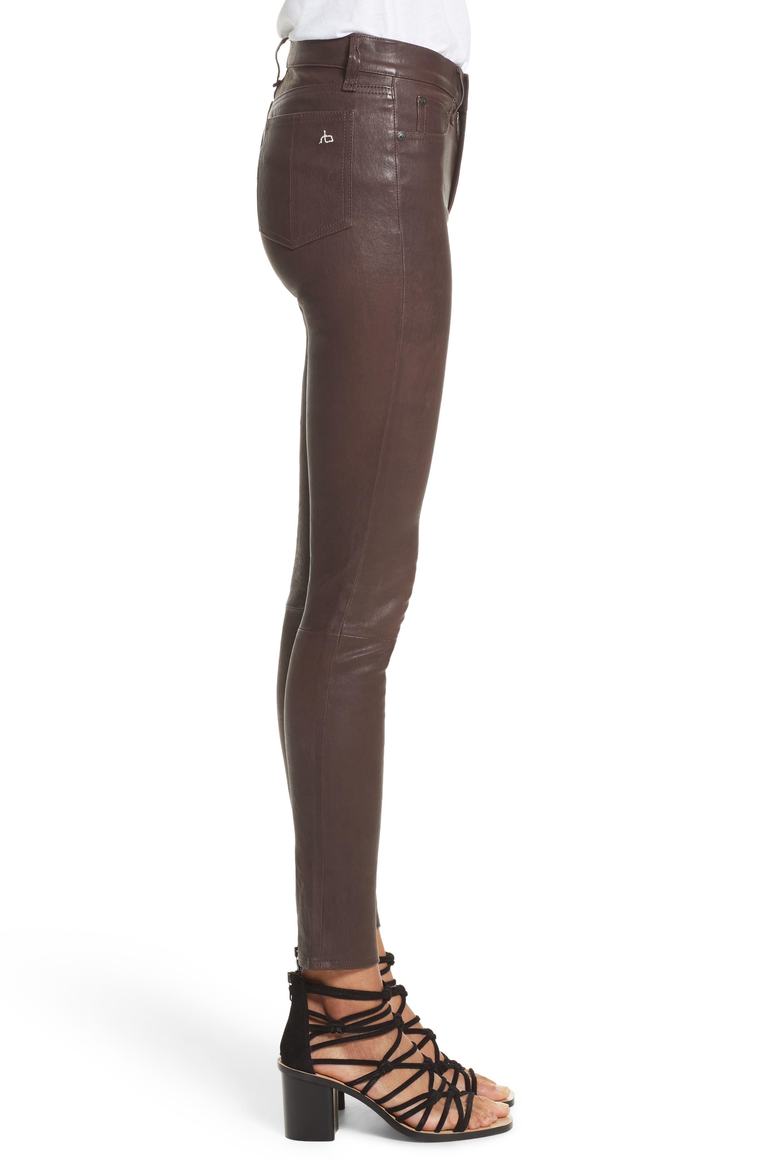 Lambskin Leather Pants,                             Alternate thumbnail 11, color,
