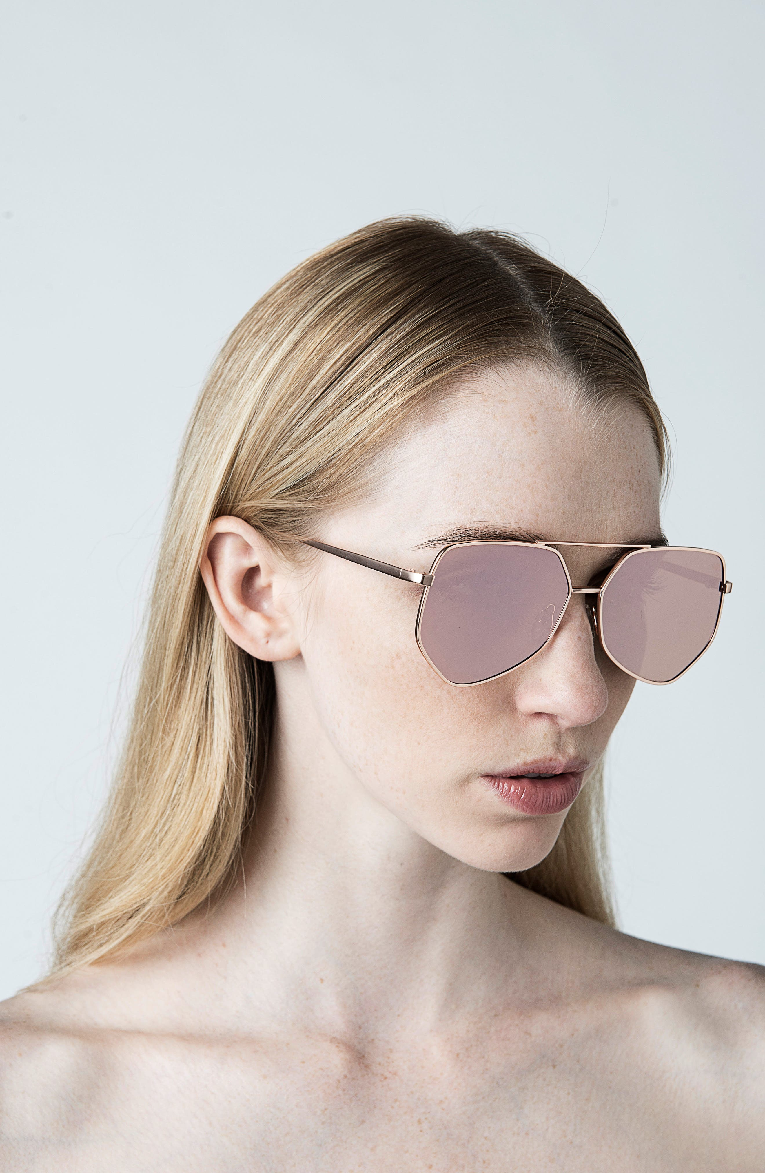 Figueroa 58mm Sunglasses,                             Alternate thumbnail 3, color,                             PALACE GOLD