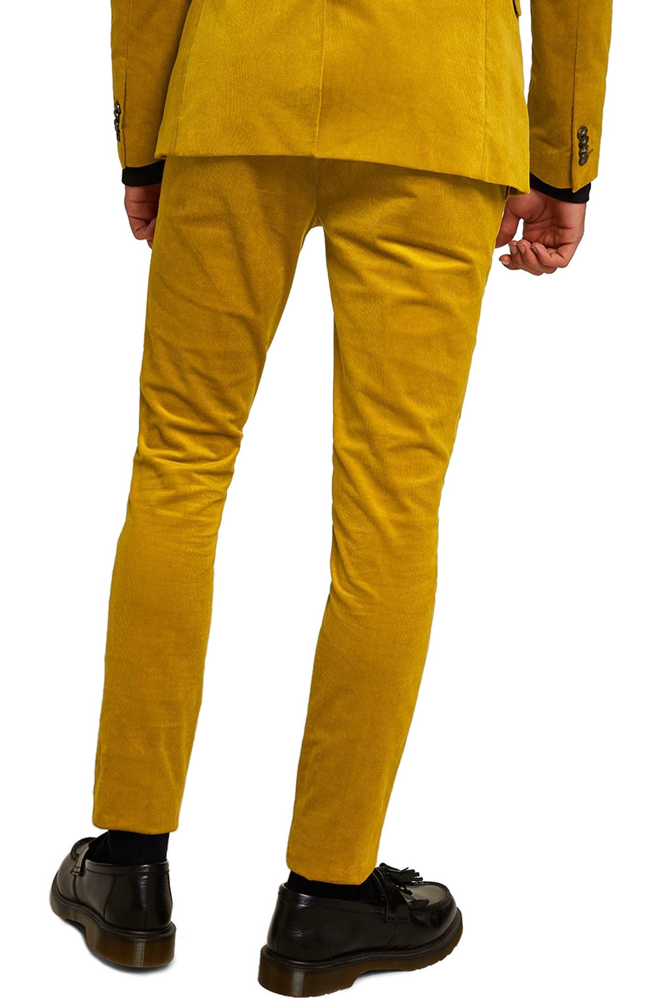 Super Skinny Fit Corduroy Trousers,                             Alternate thumbnail 2, color,                             YELLOW