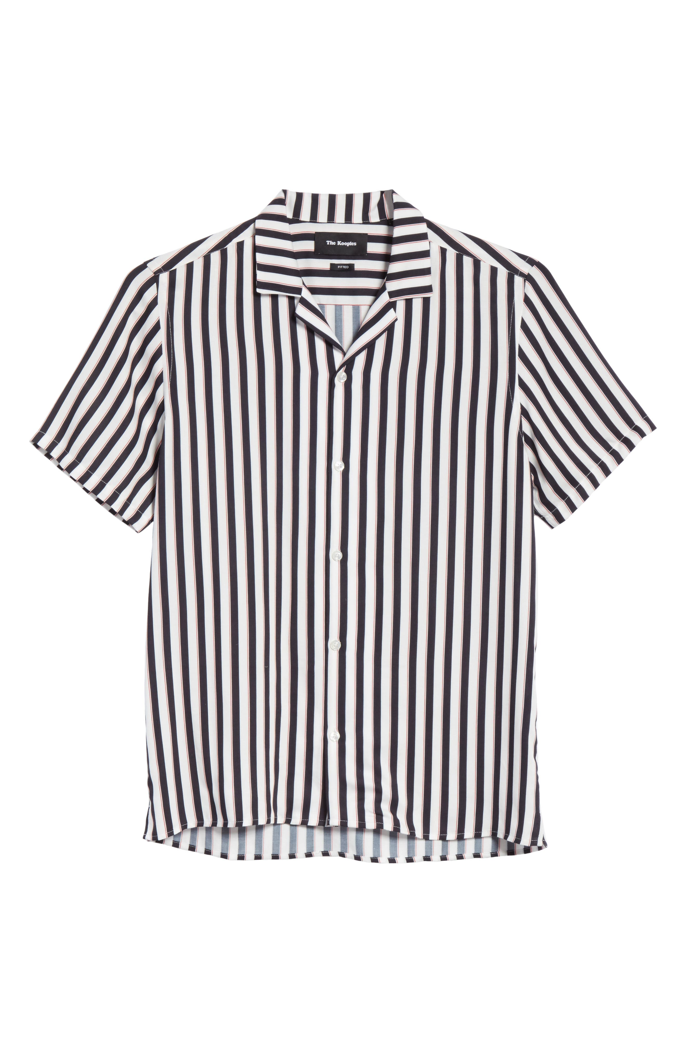 Stripe Camp Shirt,                             Alternate thumbnail 6, color,                             100