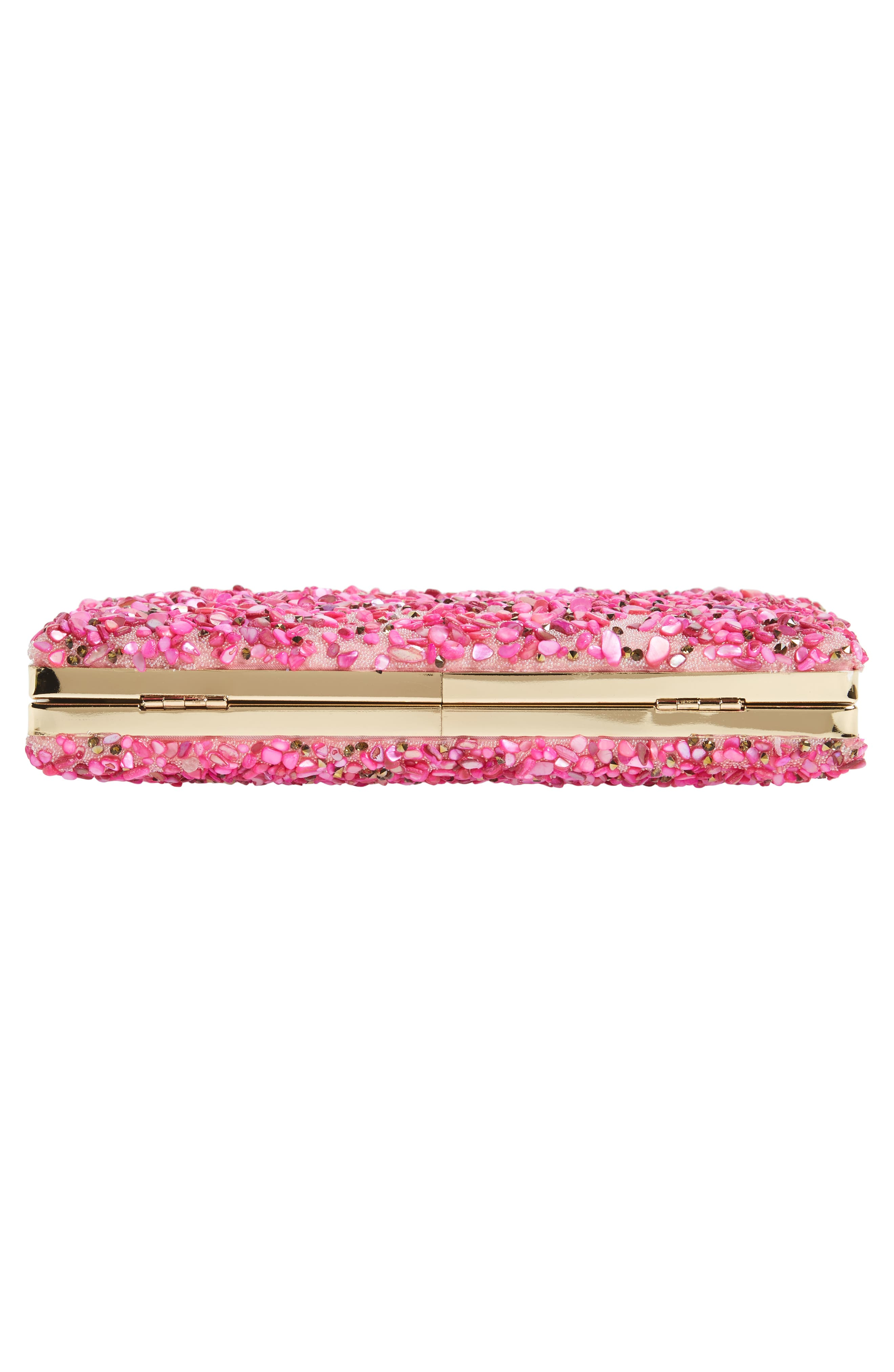 Chips Embellished Box Clutch,                             Alternate thumbnail 23, color,