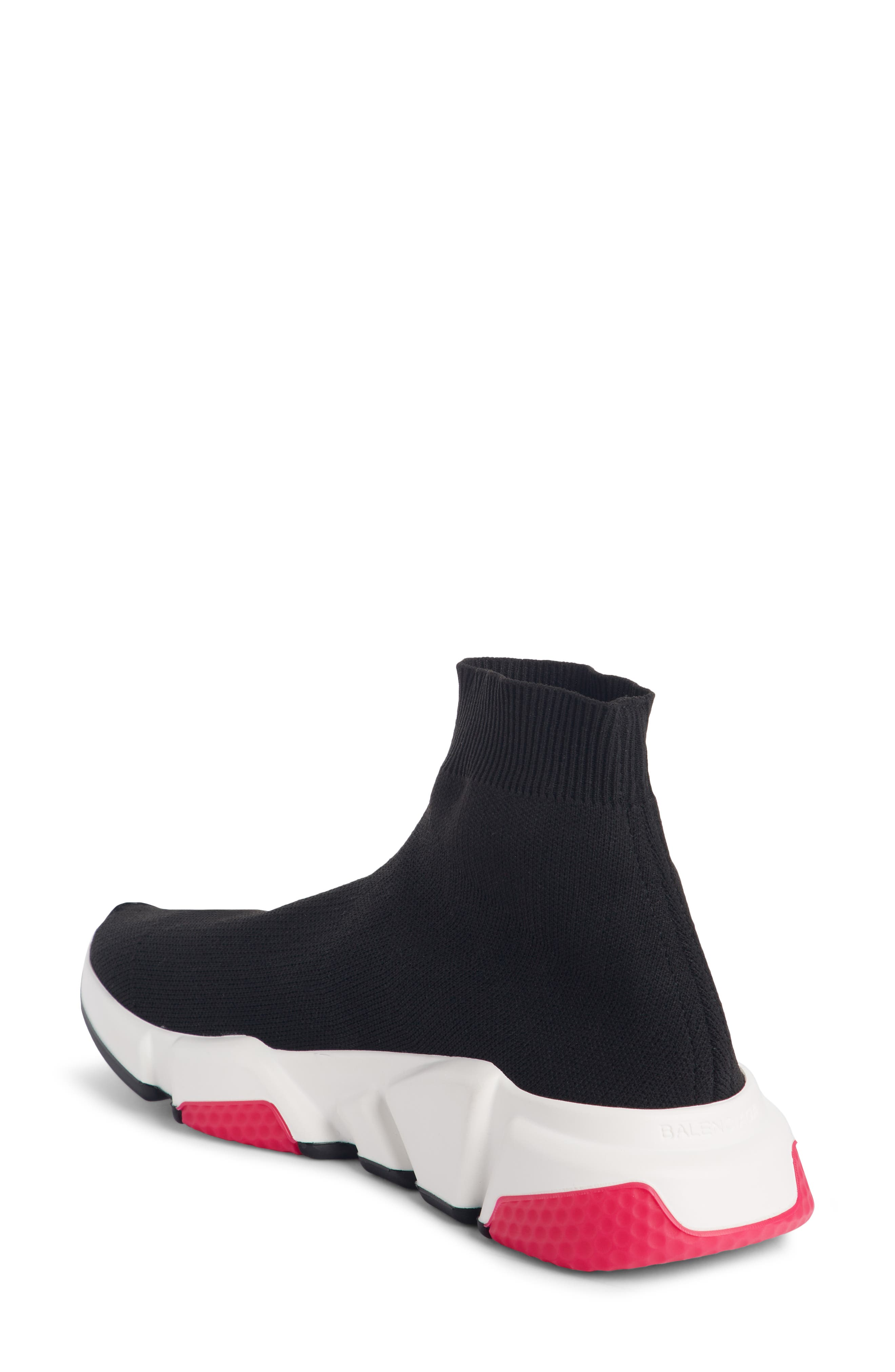 BALENCIAGA,                             Mid Speed Trainer Sock Sneaker,                             Alternate thumbnail 2, color,                             001