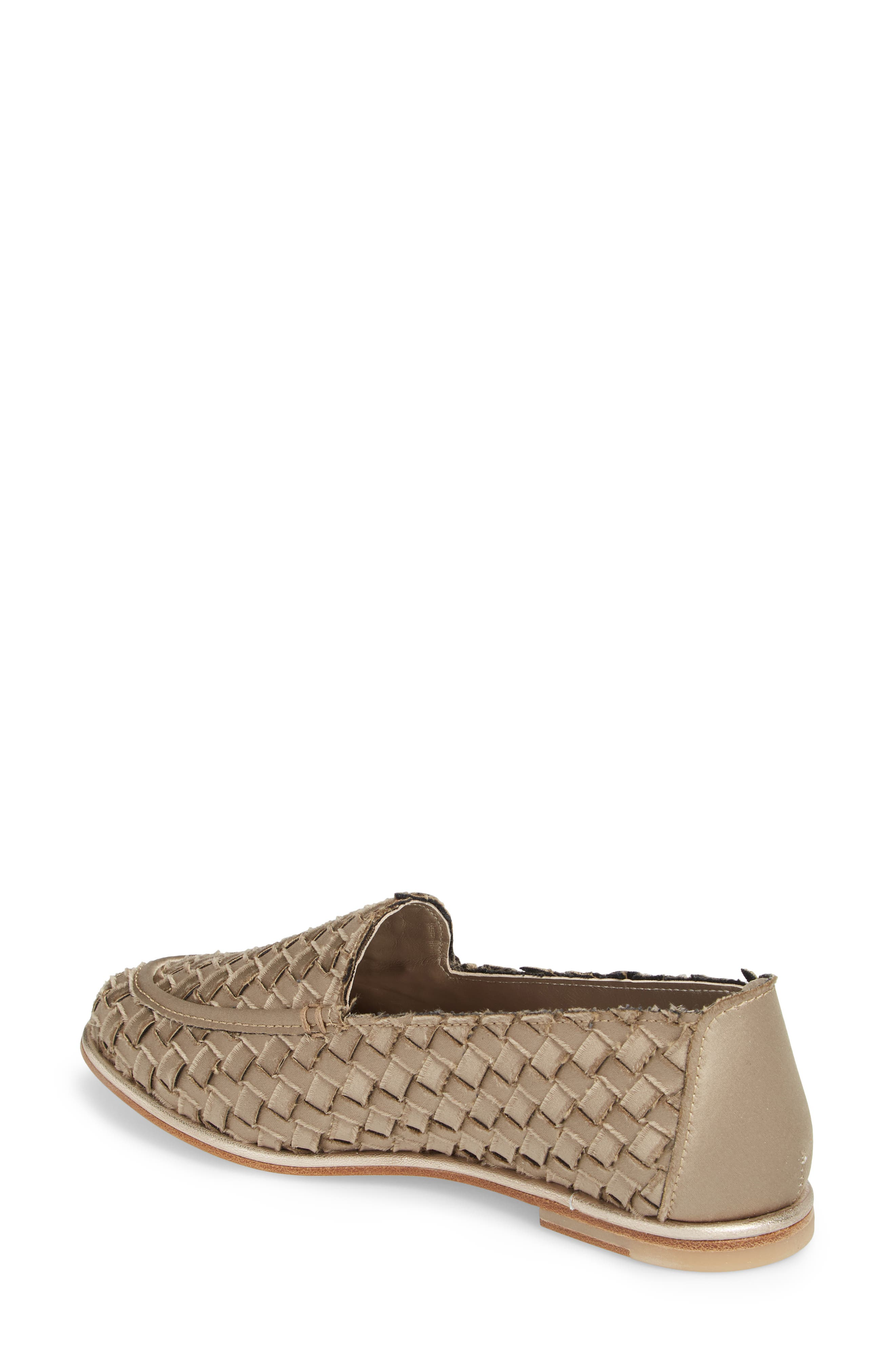 Woven Loafer,                             Alternate thumbnail 2, color,                             TAUPE SATIN