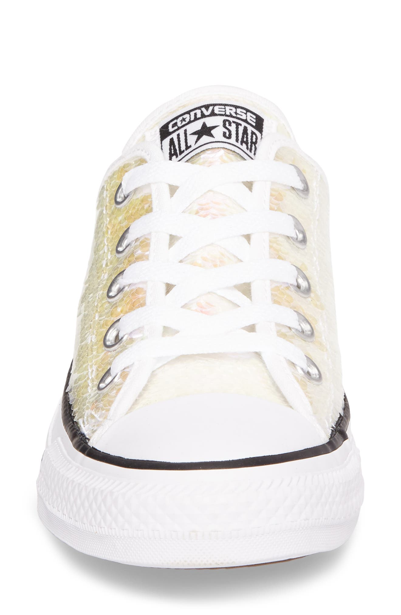 Chuck Taylor<sup>®</sup> All Star<sup>®</sup> Sequin Low Top Sneaker,                             Alternate thumbnail 8, color,