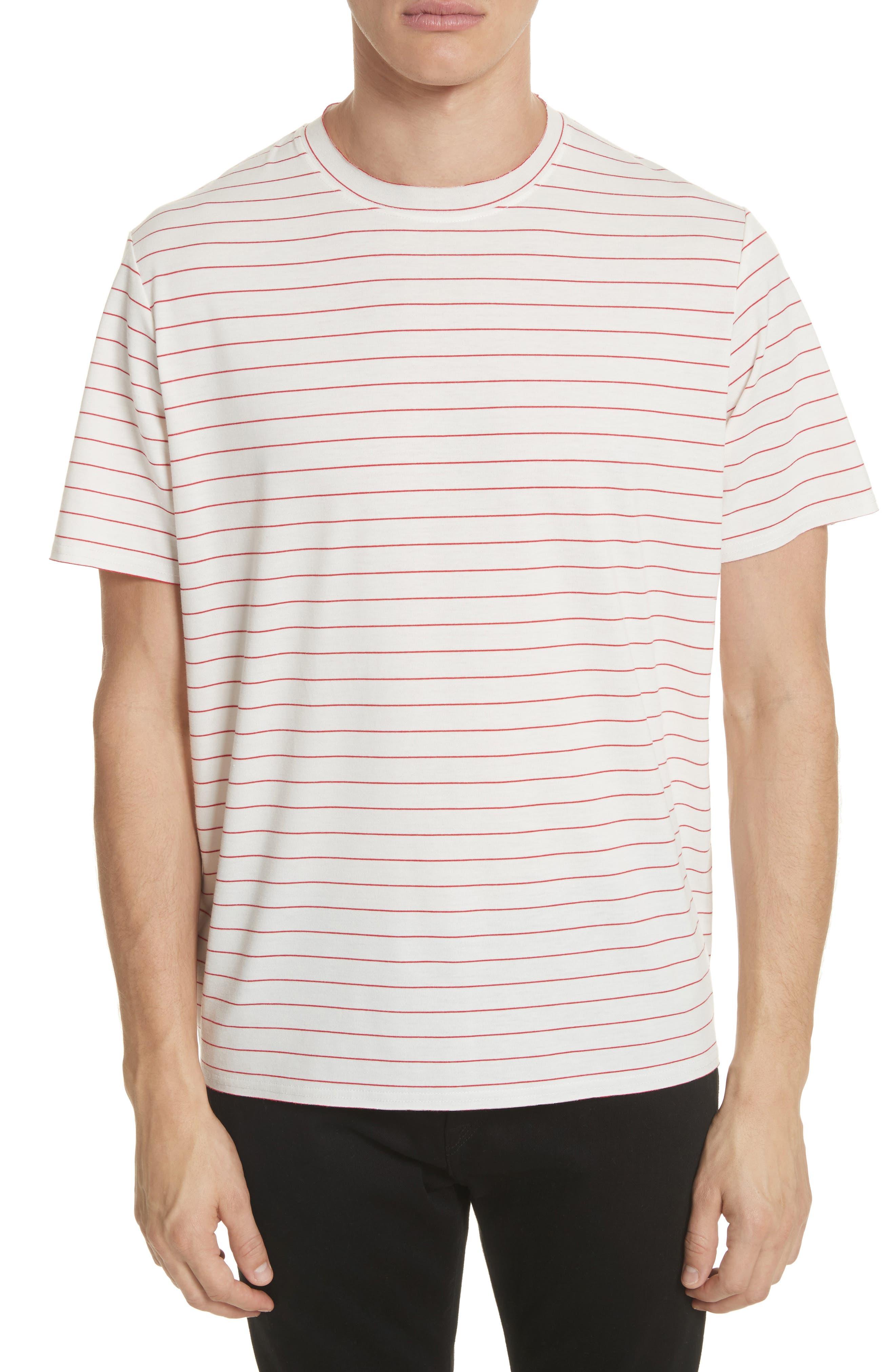 Stripe Crewneck T-Shirt,                             Main thumbnail 1, color,                             199