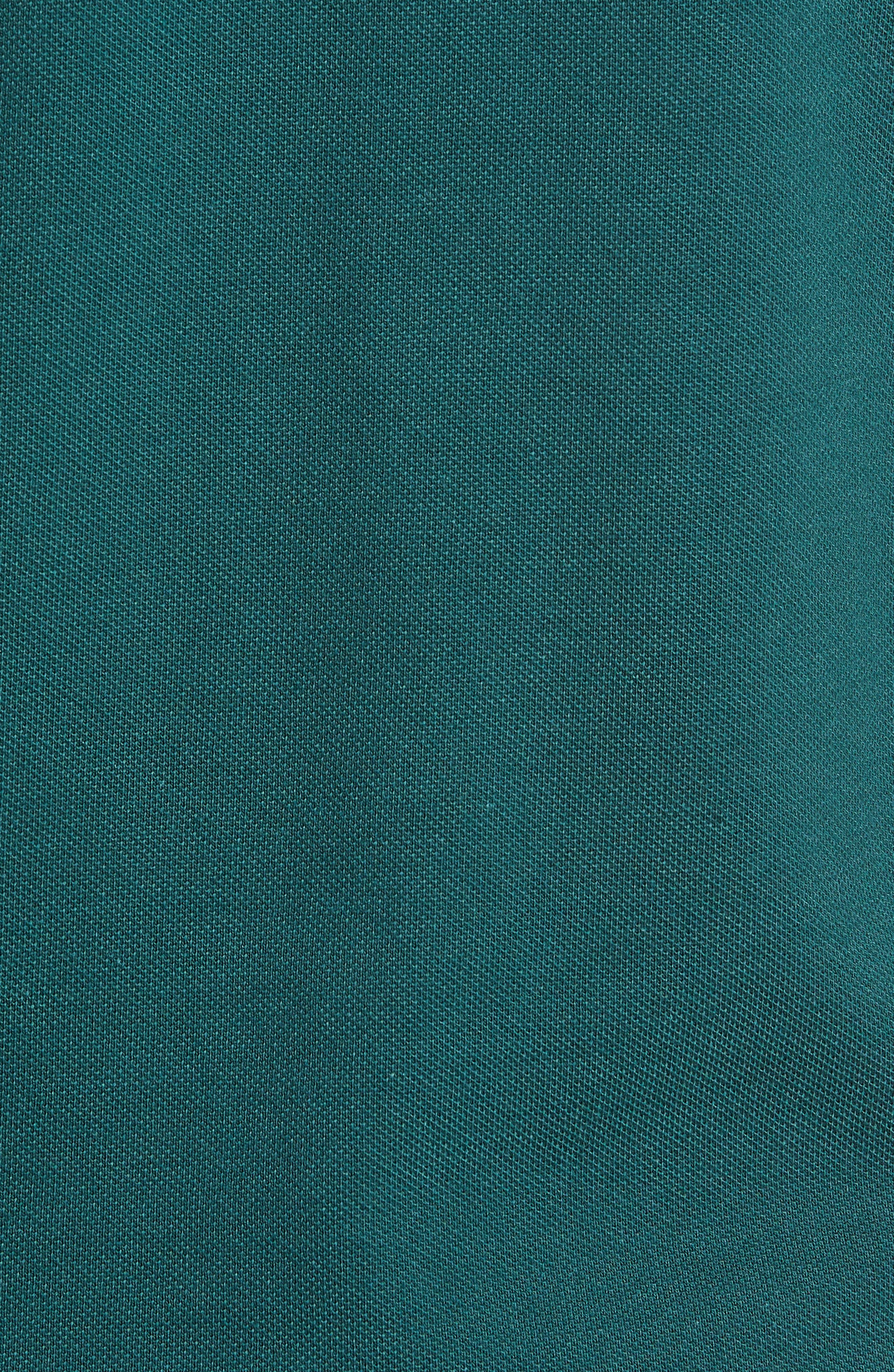Slim Fit Fancy Piqué Polo,                             Alternate thumbnail 5, color,                             ACONIT