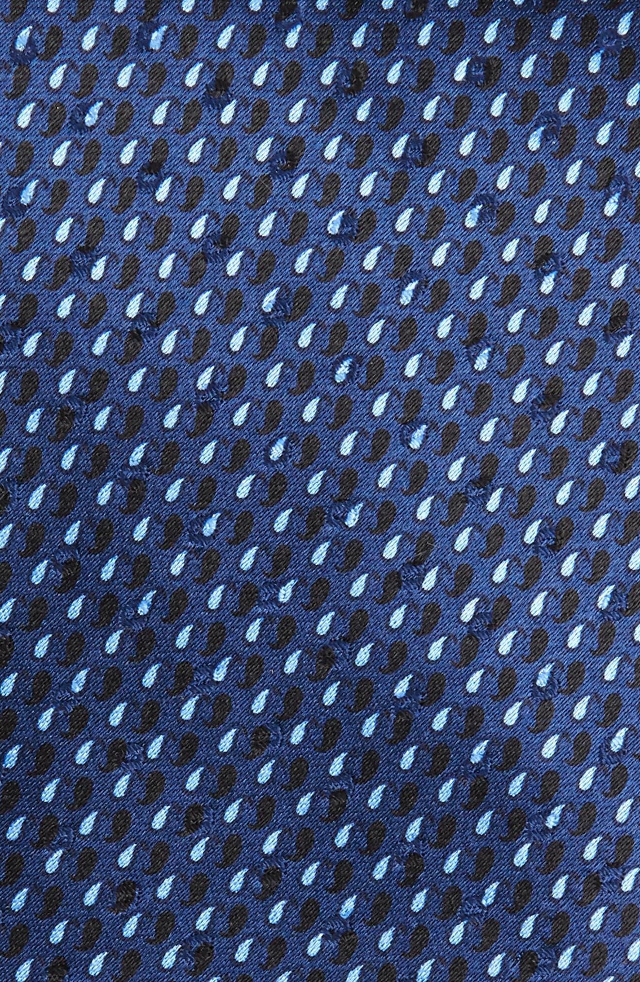 ERMENEGILDO ZEGNA,                             Paisley Silk Tie,                             Alternate thumbnail 2, color,                             400
