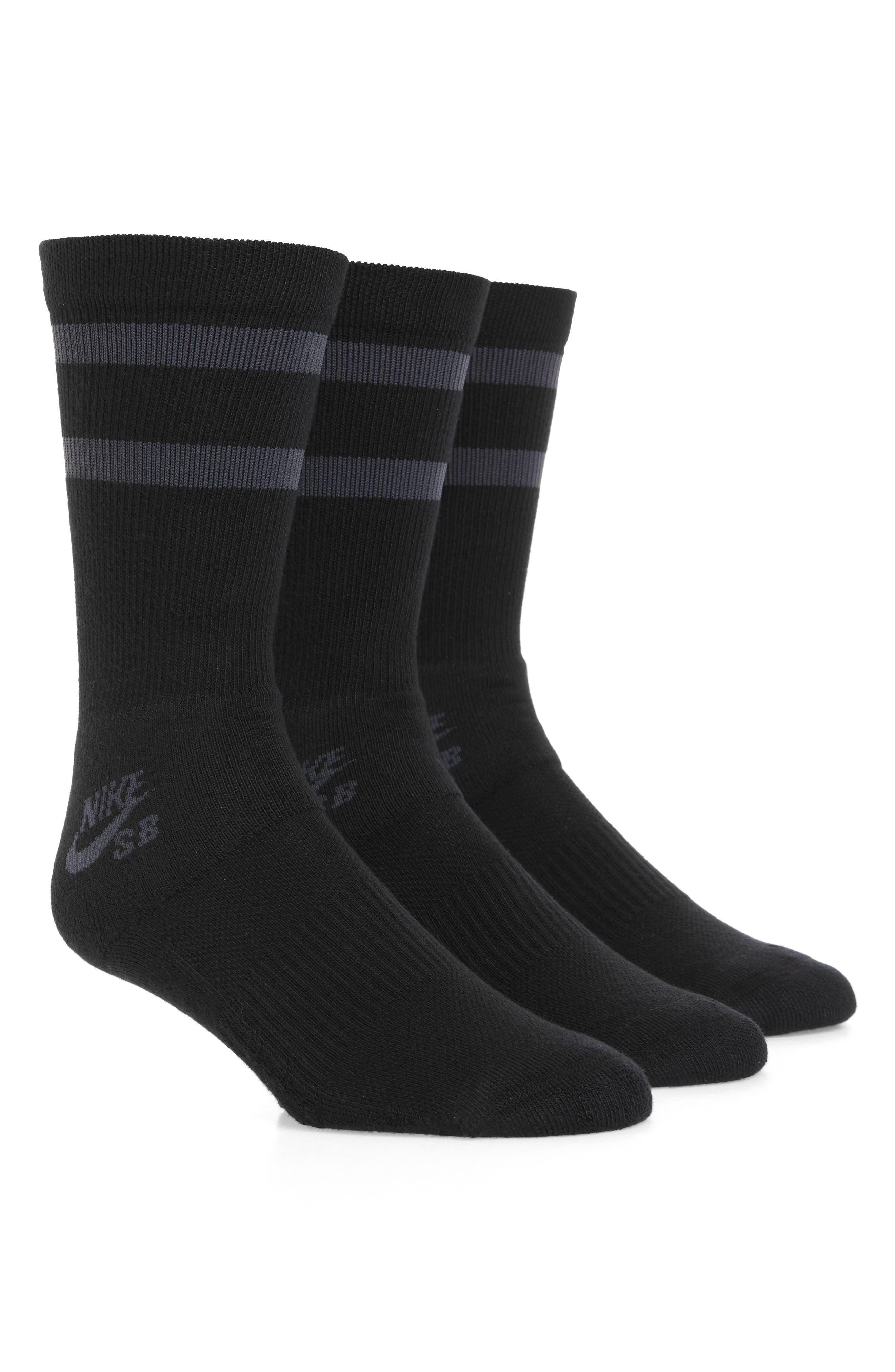 SB 3-Pack Crew Socks,                             Main thumbnail 1, color,                             001