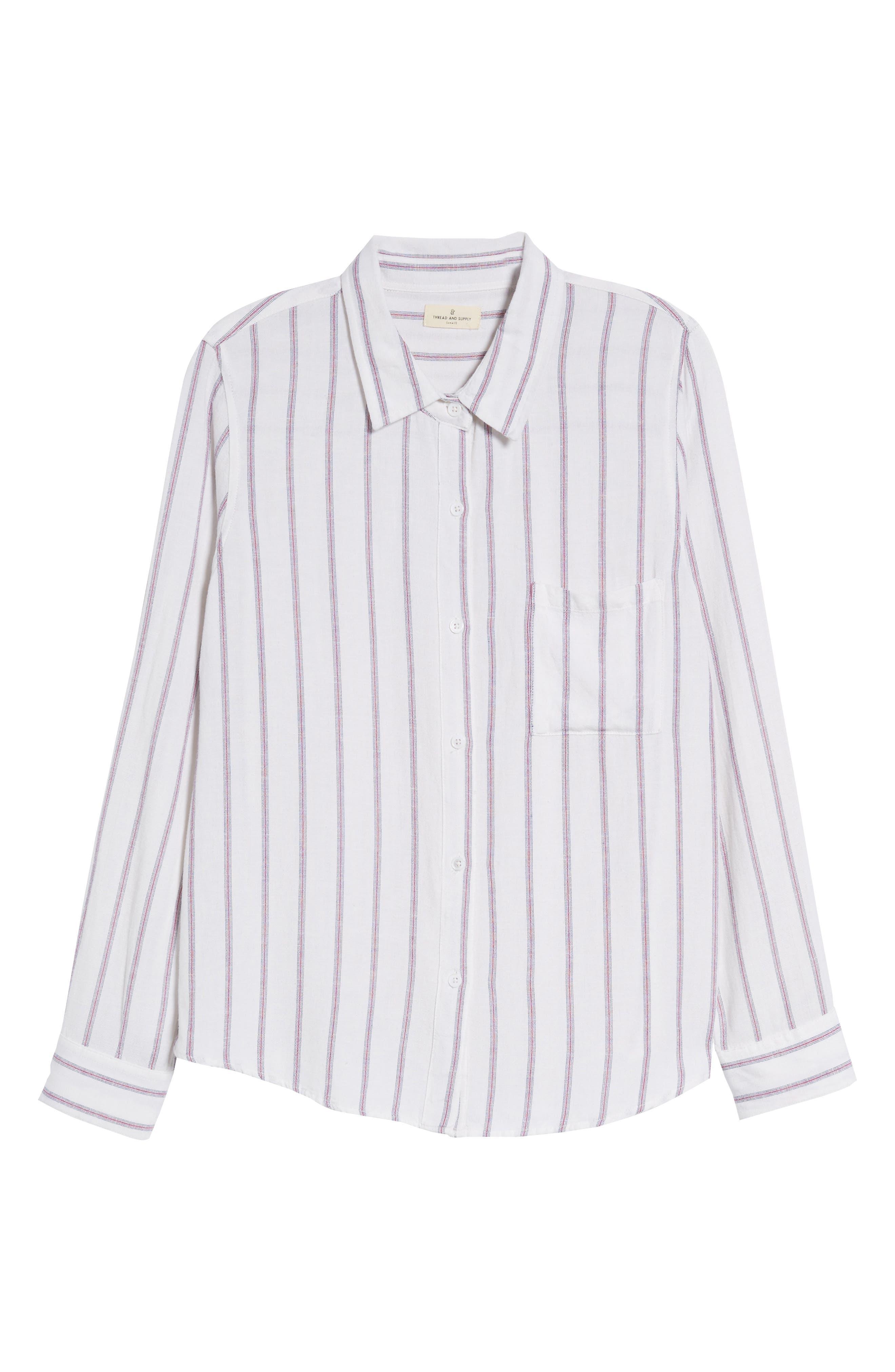 Rose Stripe Shirt,                             Alternate thumbnail 7, color,