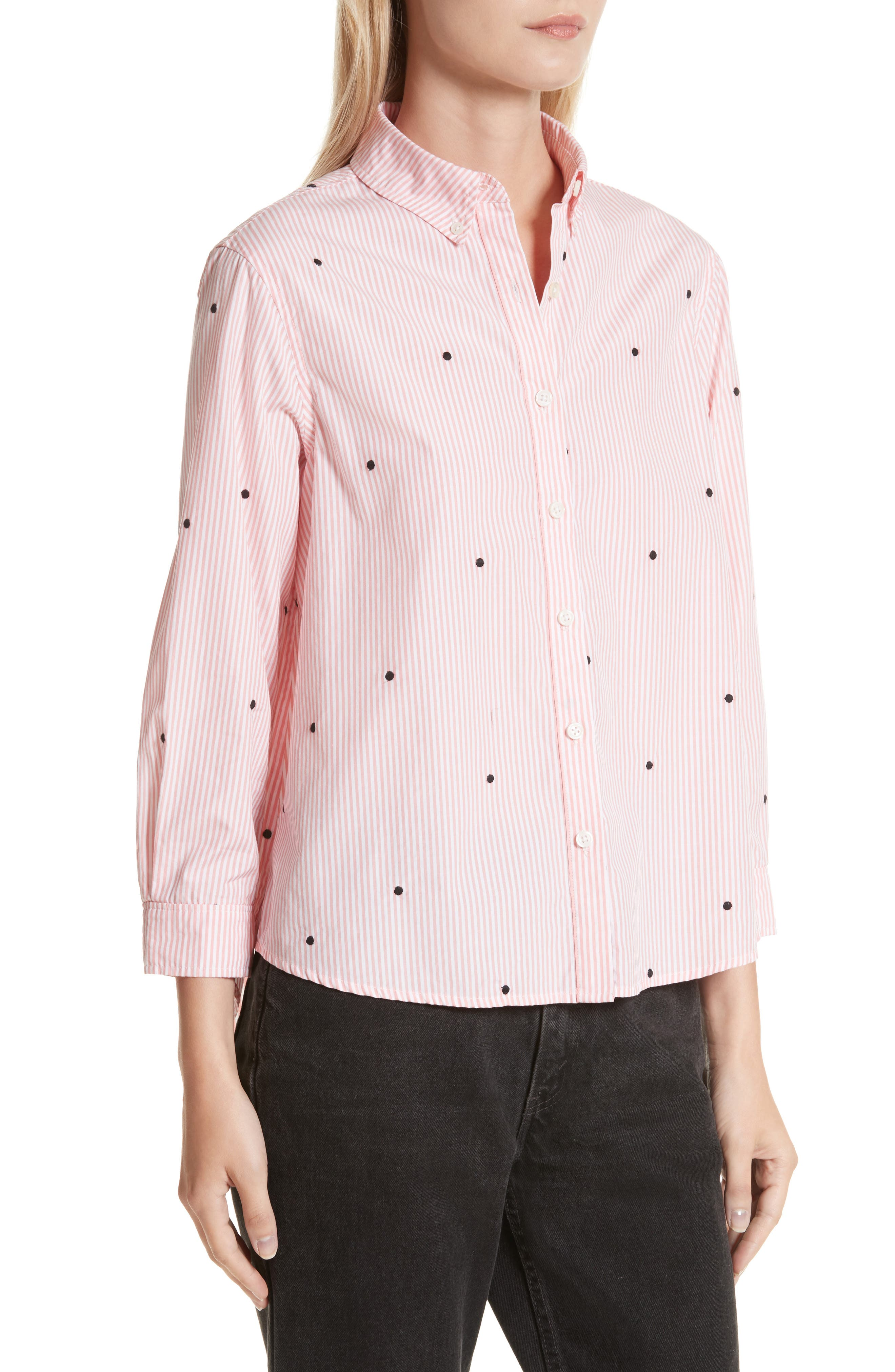 The Swing Oxford Embroidered Shirt,                             Alternate thumbnail 4, color,                             650