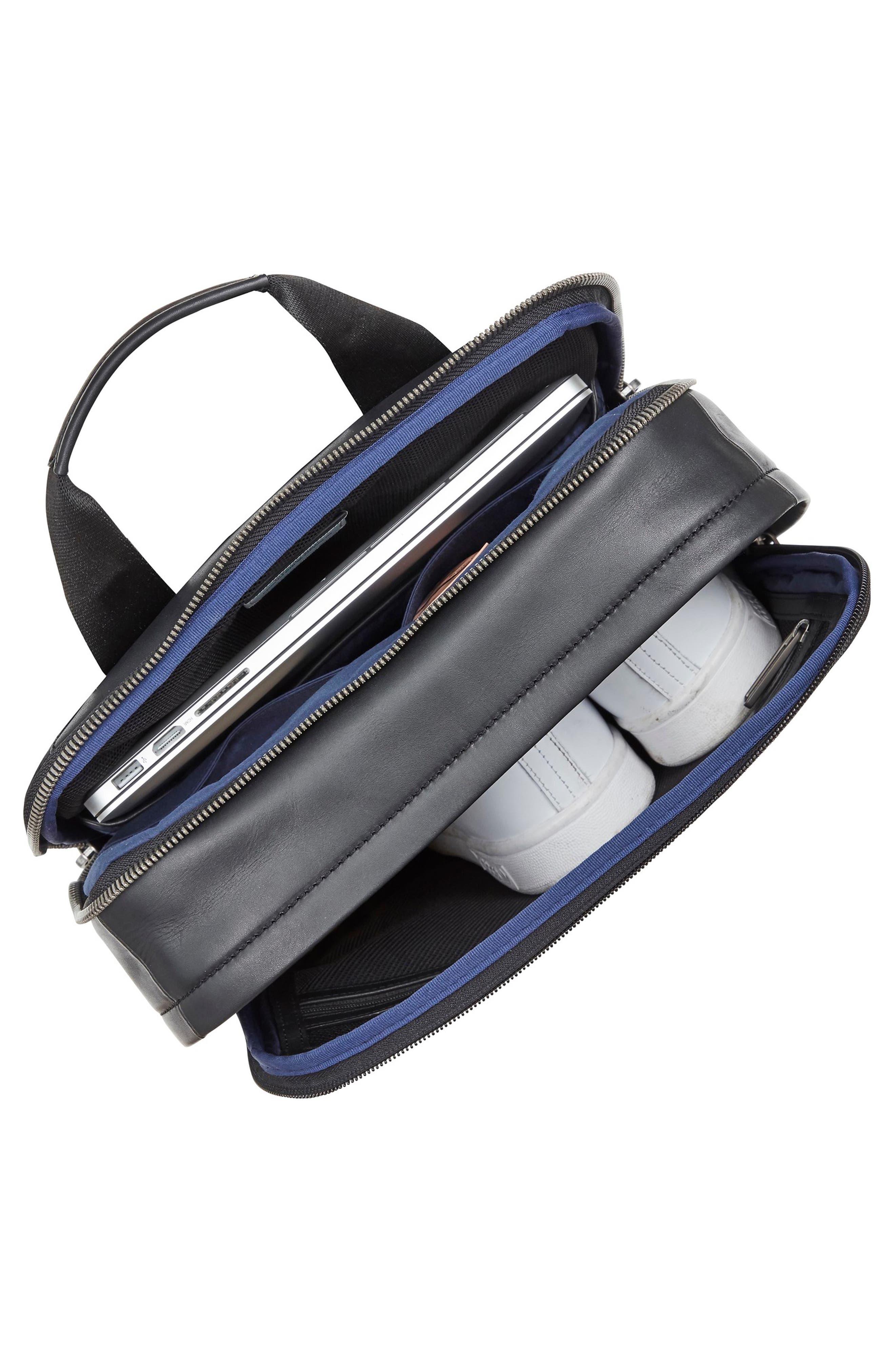 Knomo Barbican Brackley Leather Backpack,                             Alternate thumbnail 4, color,                             BLACK