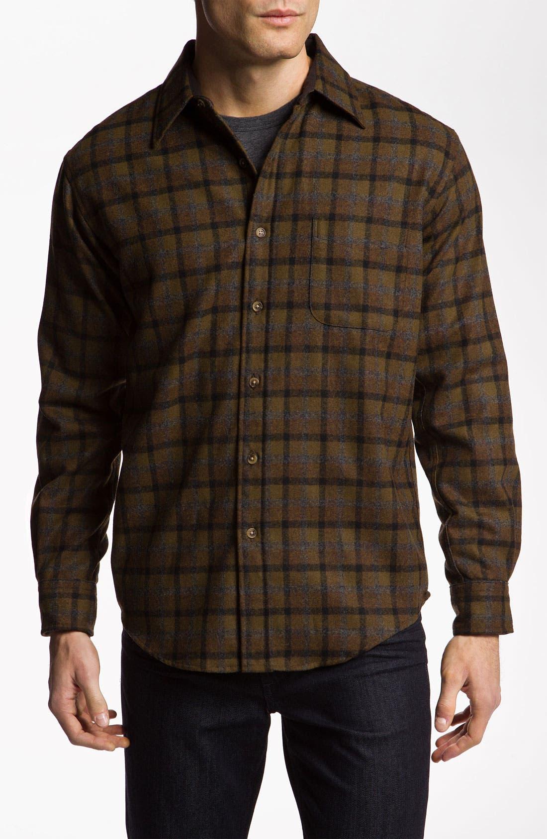 Virgin Wool Woven Shirt,                         Main,                         color, 210