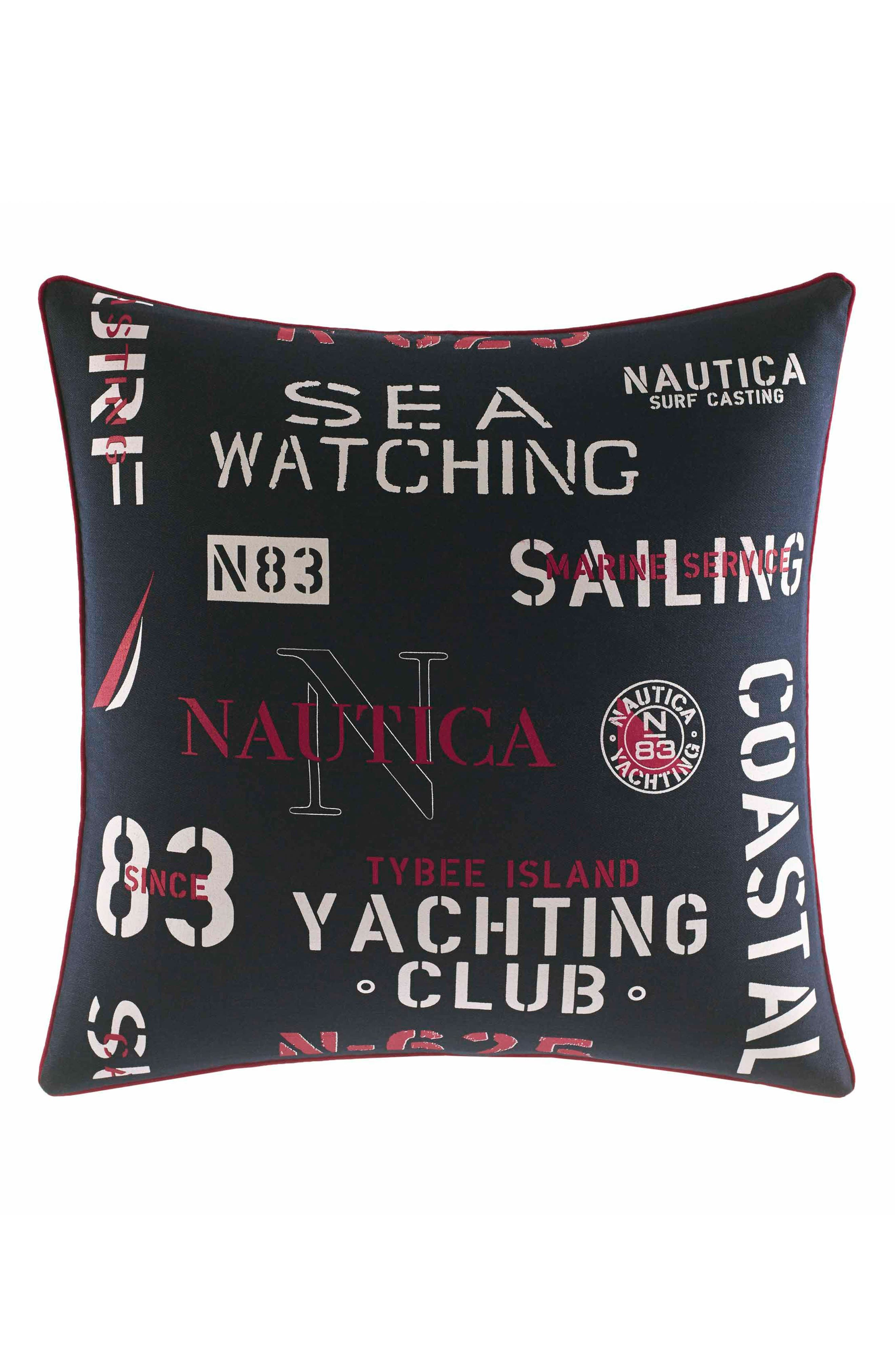 Heritage Accent Pillow,                         Main,                         color, NAVY