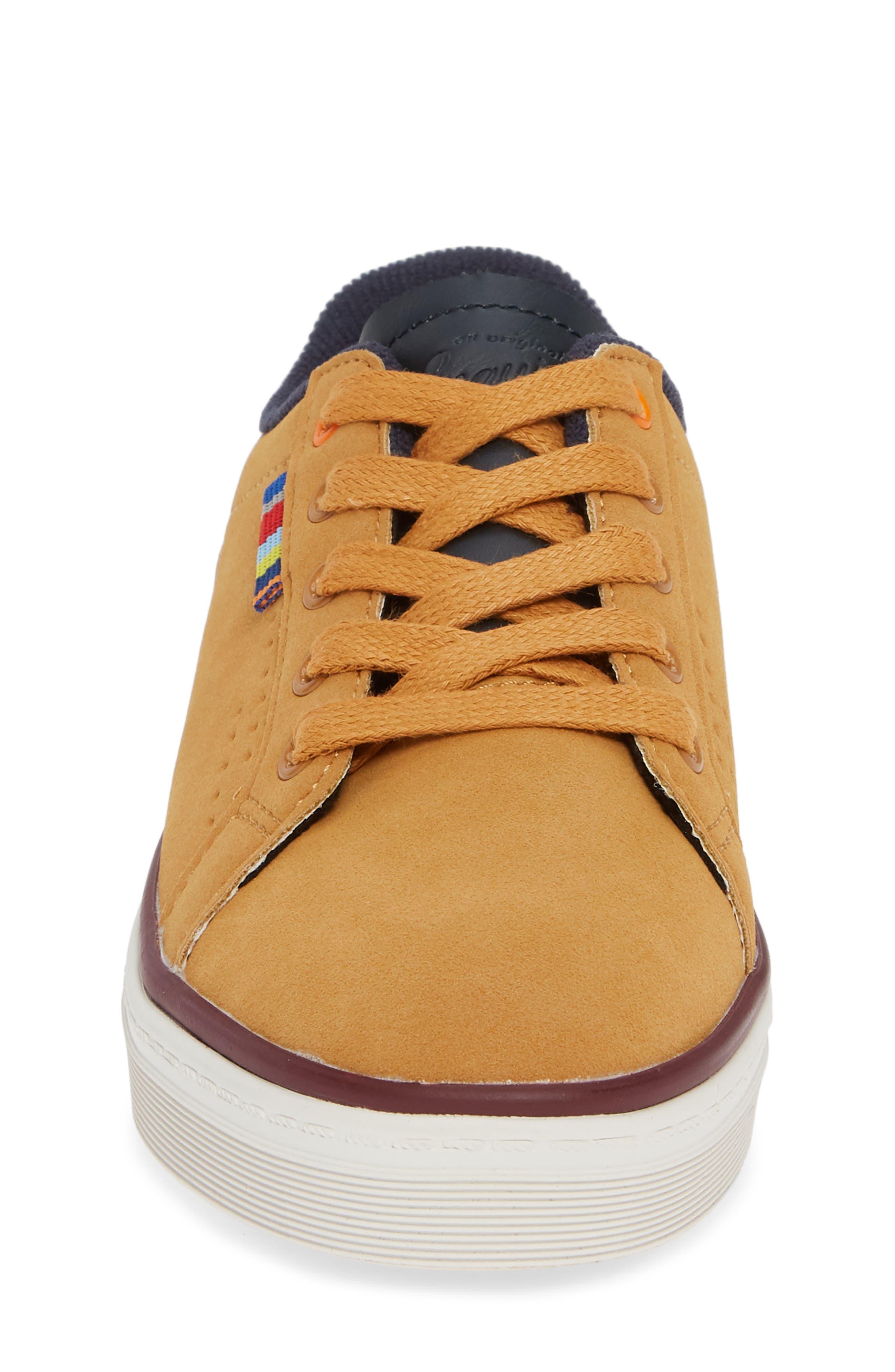 ORIGINAL PENGUIN,                             Dexter Sneaker,                             Alternate thumbnail 4, color,                             WHEAT/ NAVY
