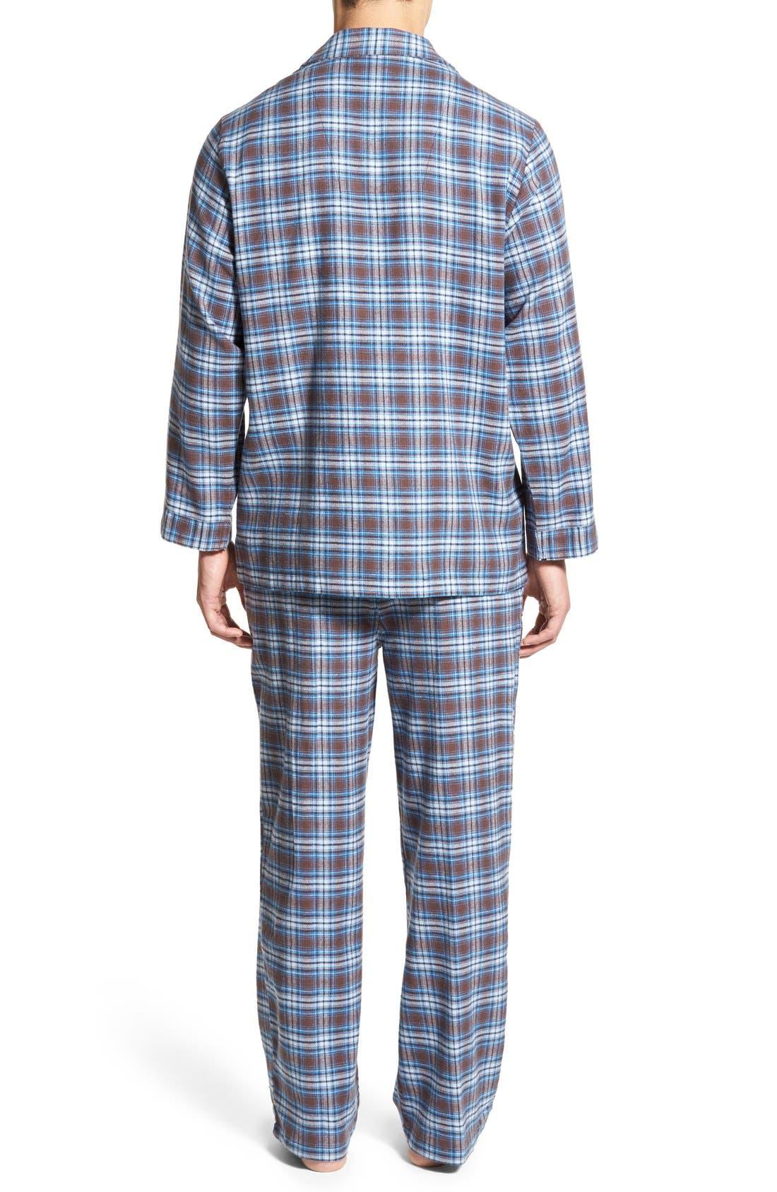 '824' Flannel Pajama Set,                             Alternate thumbnail 111, color,