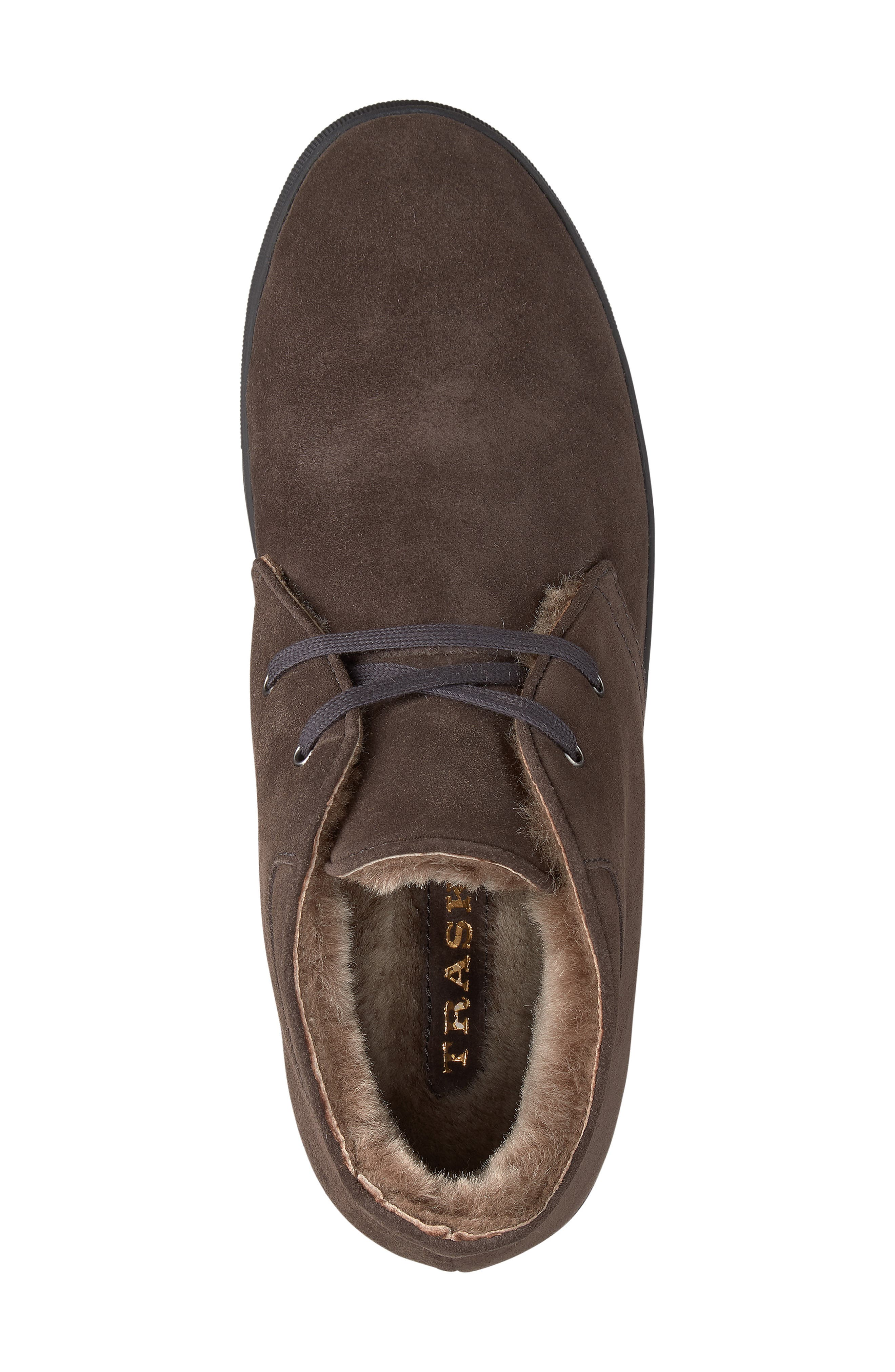 Ariston Genuine Shearling Chukka Boot,                             Alternate thumbnail 5, color,                             CHARCOAL SUEDE