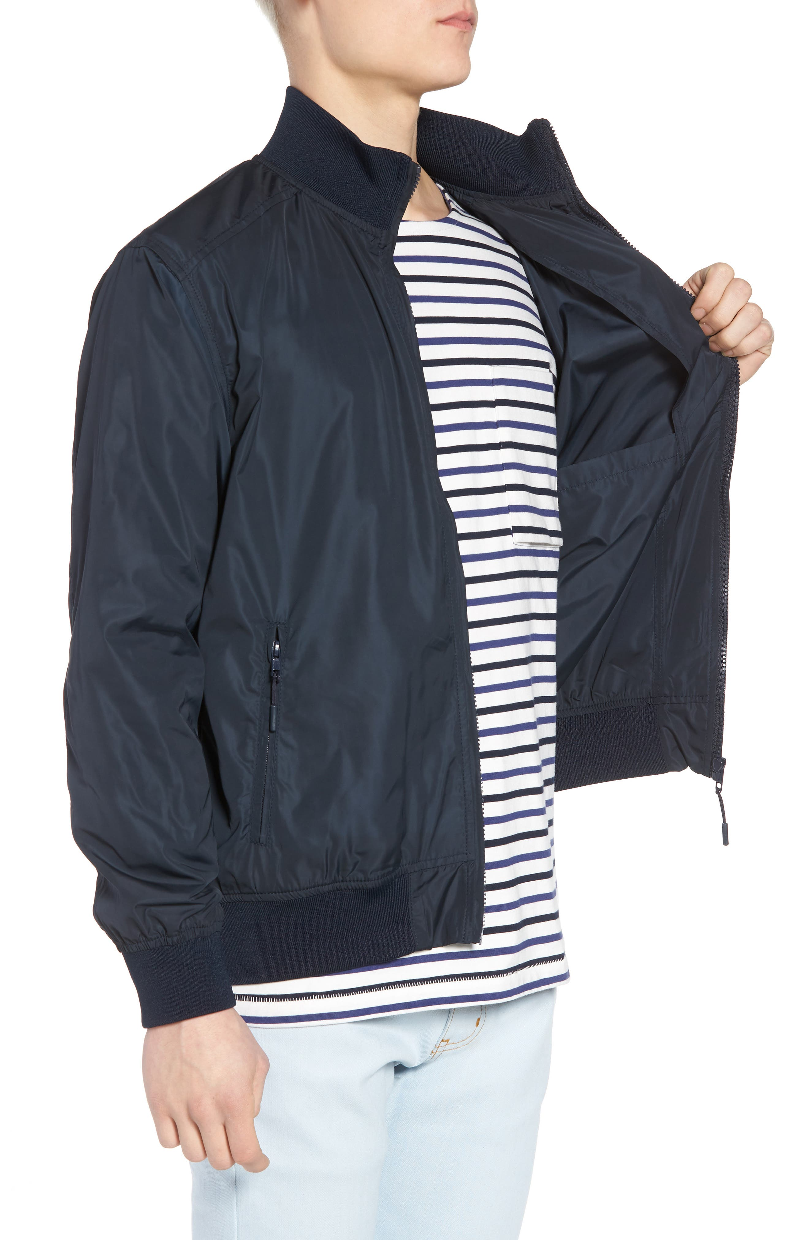 Classic Fit Track Jacket,                             Alternate thumbnail 3, color,                             401