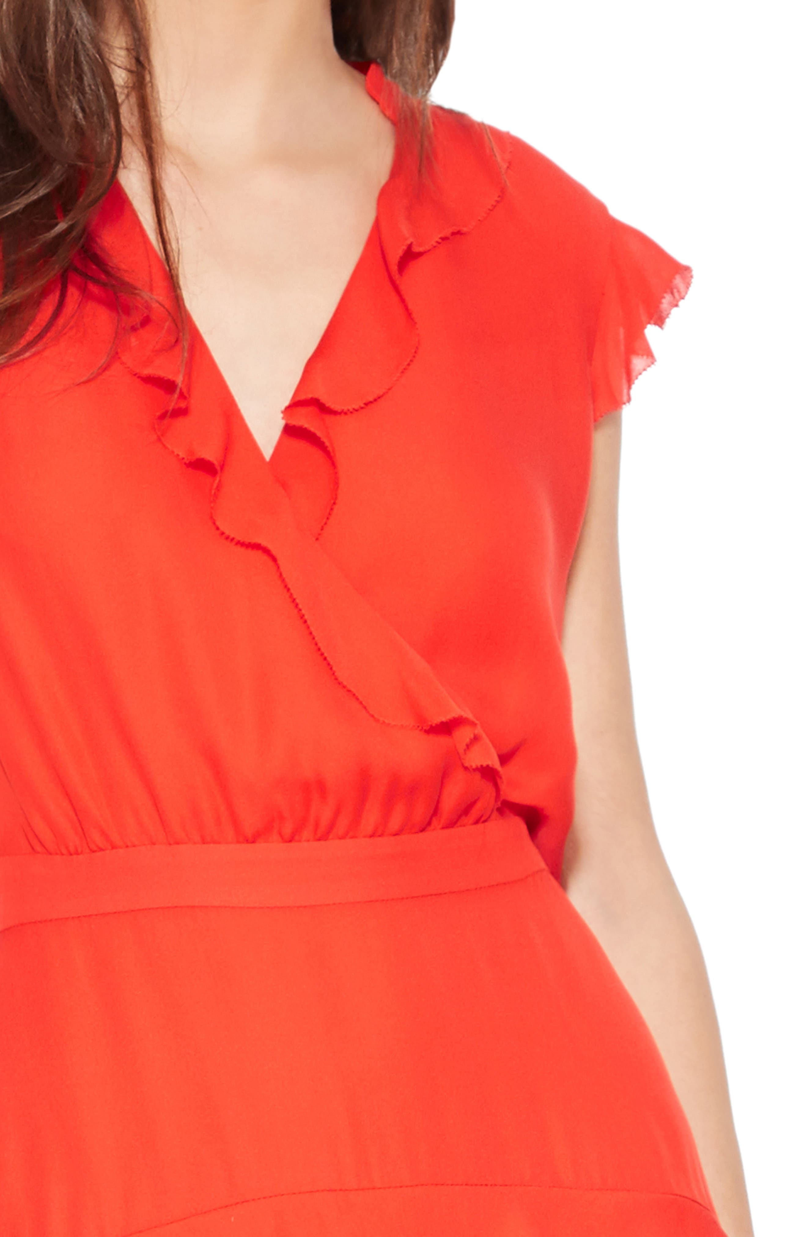 PARKER,                             Tangia Silk Dress,                             Alternate thumbnail 4, color,                             FLARE