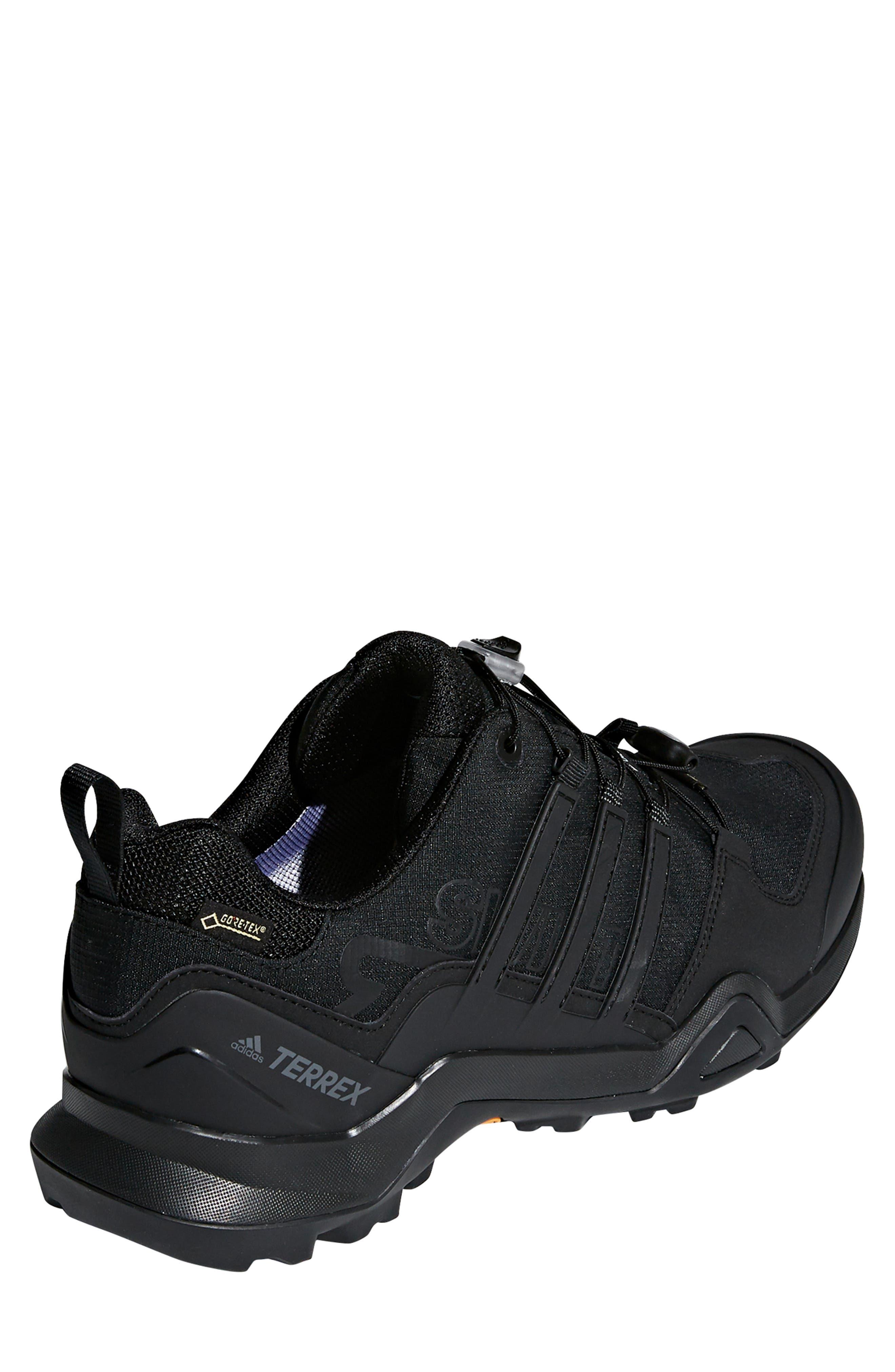ADIDAS,                             Terrex Swift R2 GTX Gore-Tex<sup>®</sup> Waterproof Hiking Shoe,                             Alternate thumbnail 2, color,                             BLACK/ BLACK/ BLACK