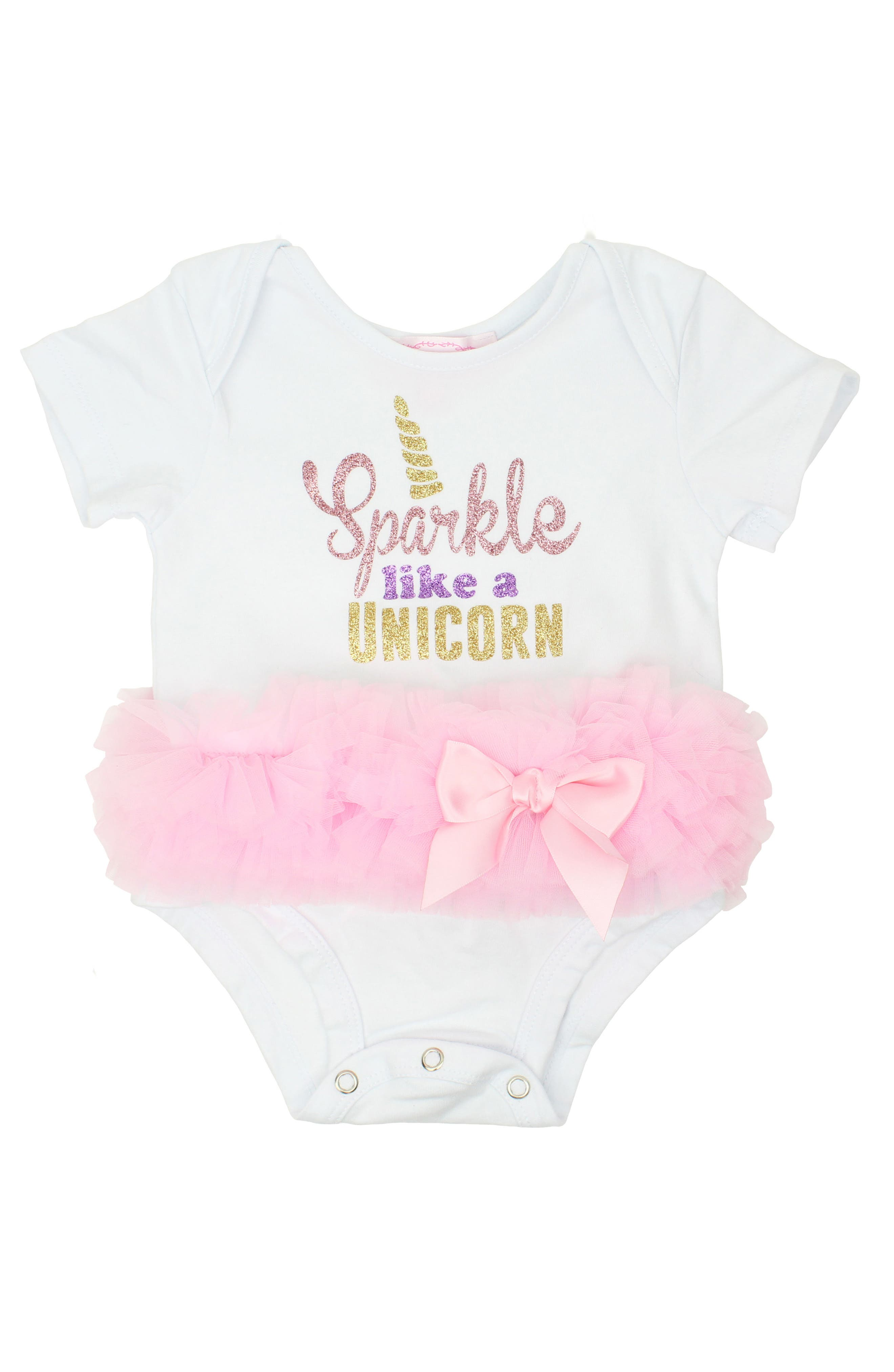 Sparkle Like a Unicorn Tutu Bodysuit,                         Main,                         color, 680
