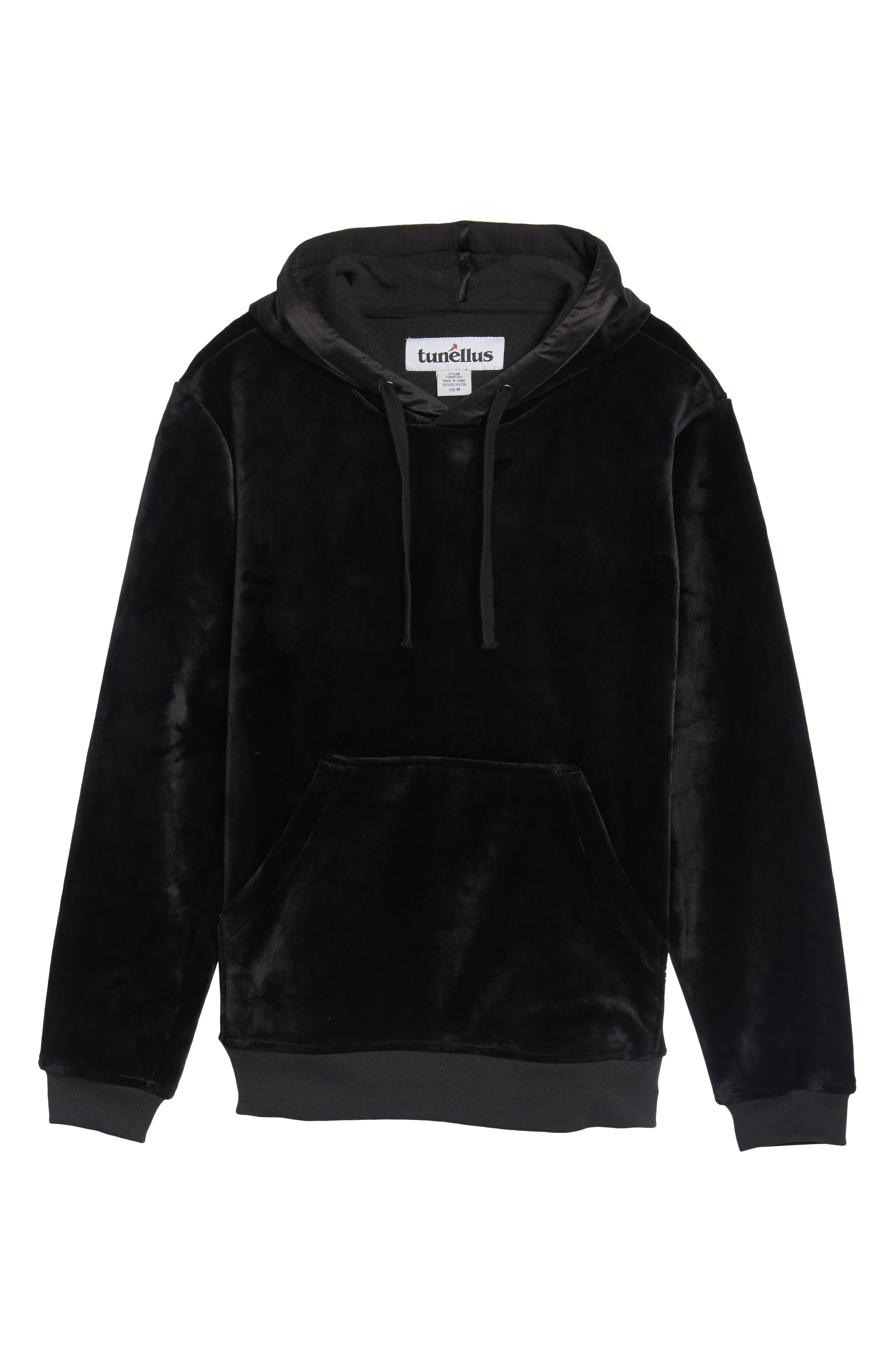 Fuzzy Pullover Hoodie,                             Alternate thumbnail 6, color,                             001
