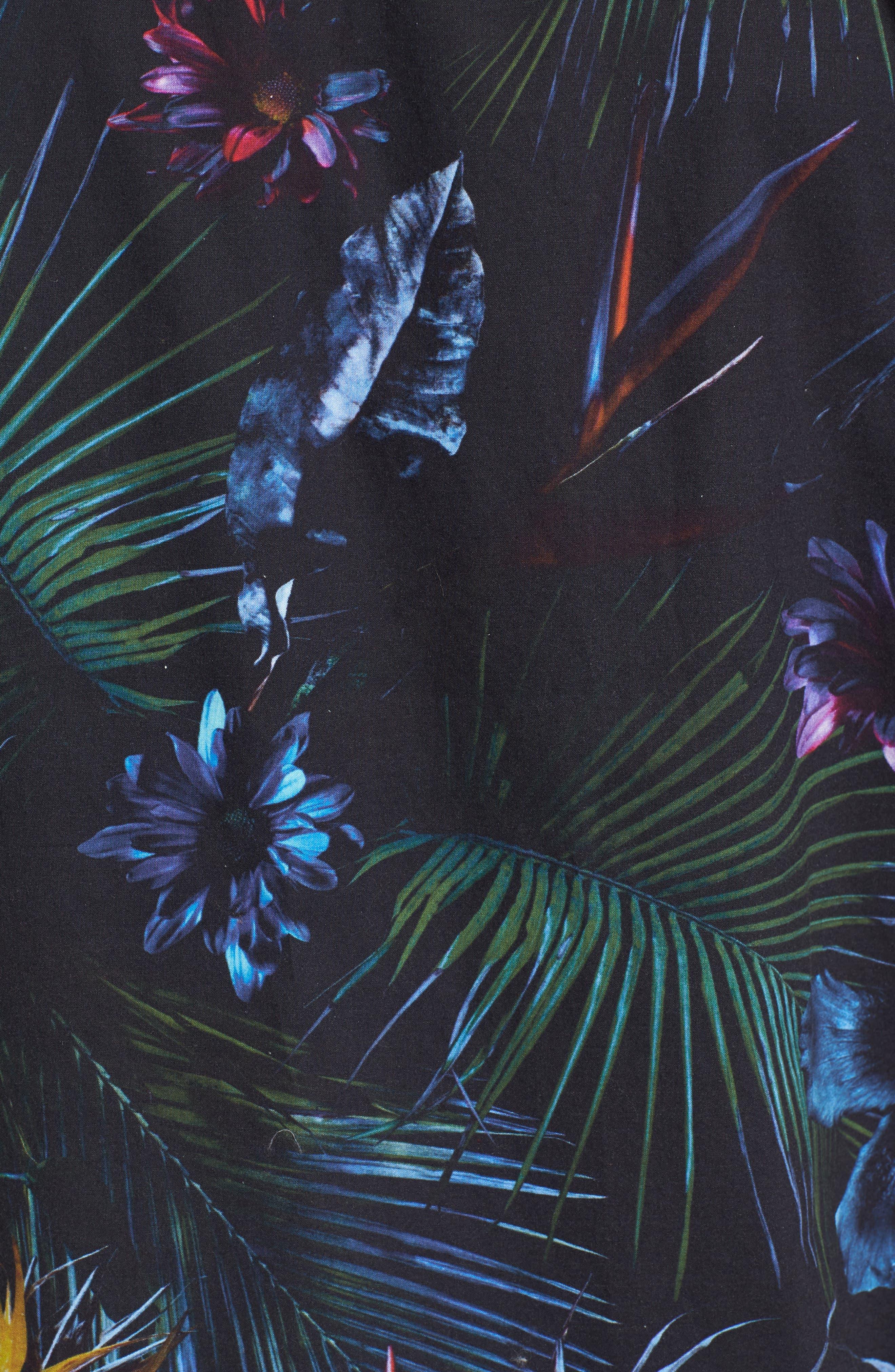 Neo Jungle Short Sleeve Shirt,                             Alternate thumbnail 5, color,                             001
