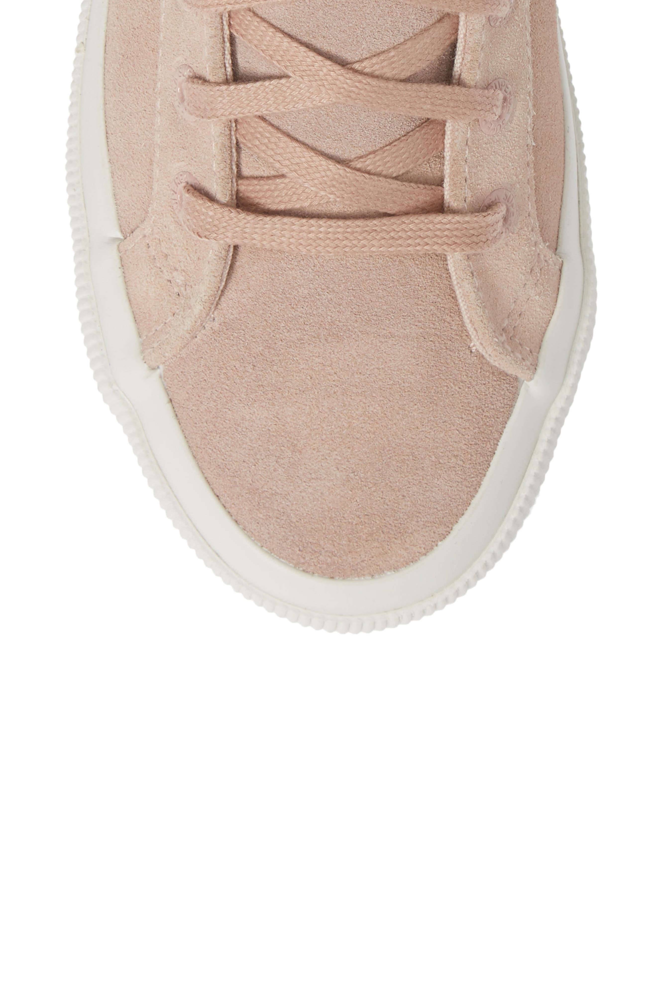 2795 High Top Sneaker,                             Alternate thumbnail 5, color,                             ROSE SUEDE