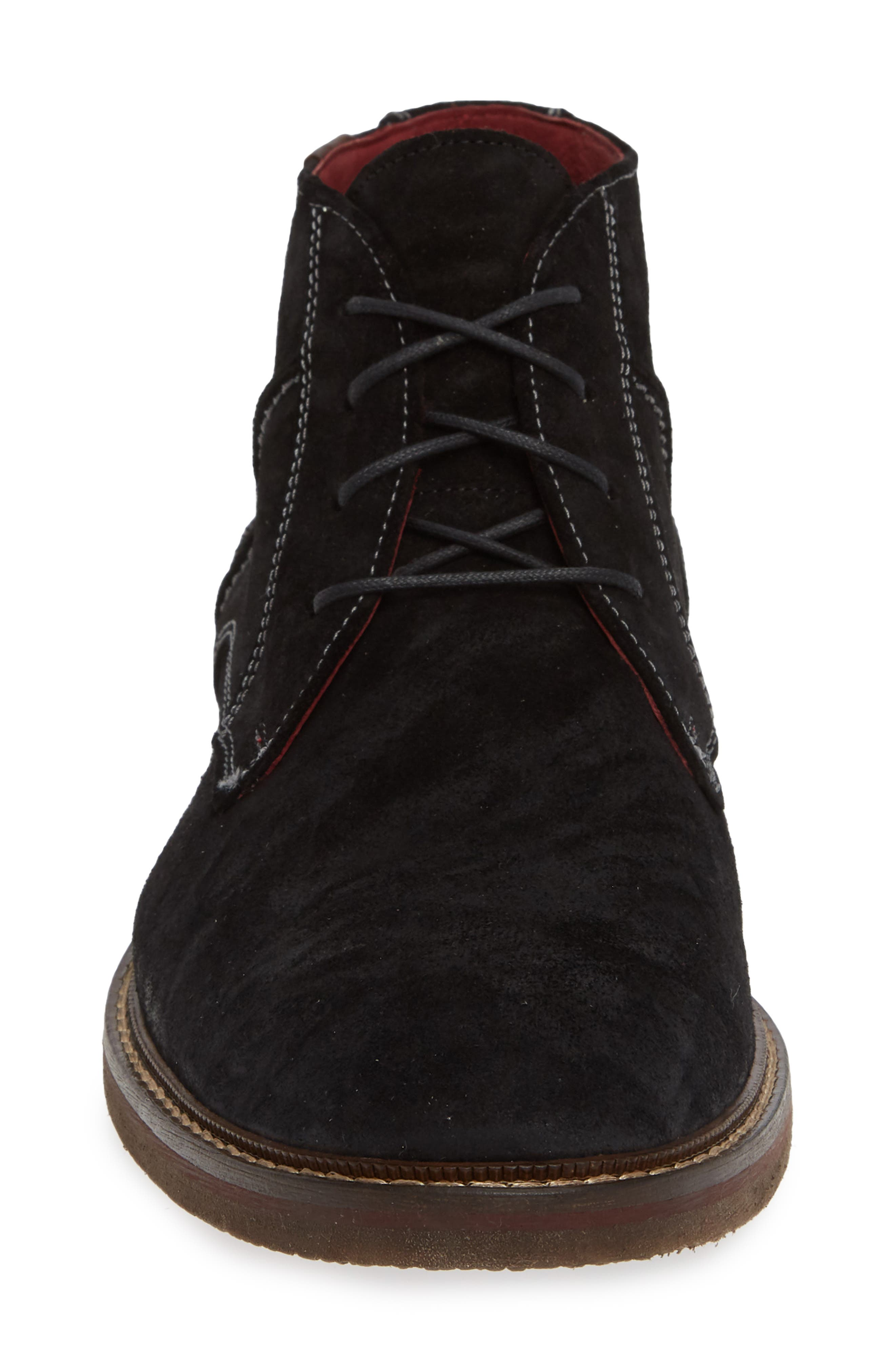 Dalbert Chukka Boot,                             Alternate thumbnail 4, color,                             BLACK/ KENIA SUEDE