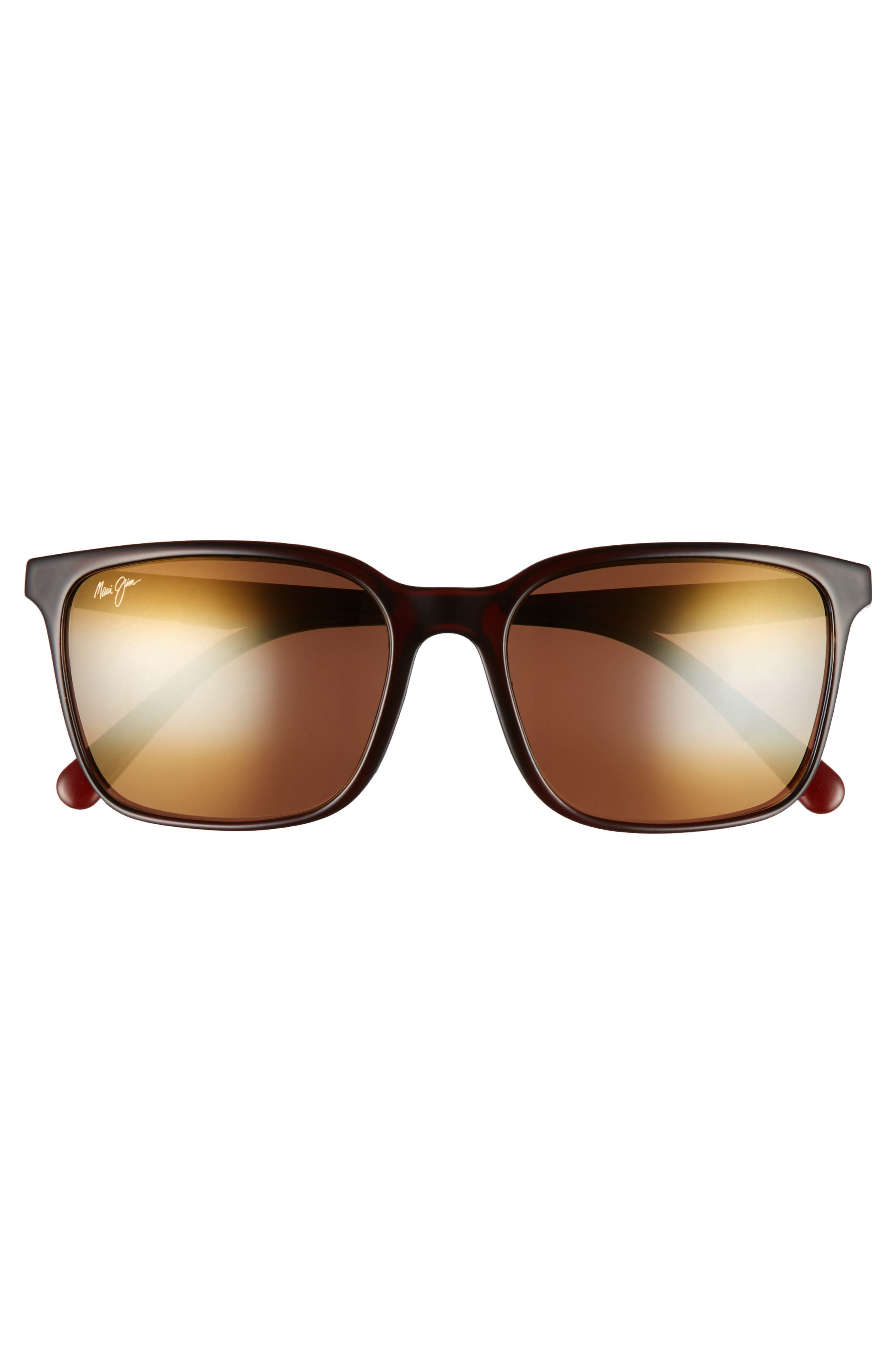 Wild Coast 56mm Polarized Sunglasses,                             Alternate thumbnail 2, color,                             ROOT BEER BLUE/ BRONZE