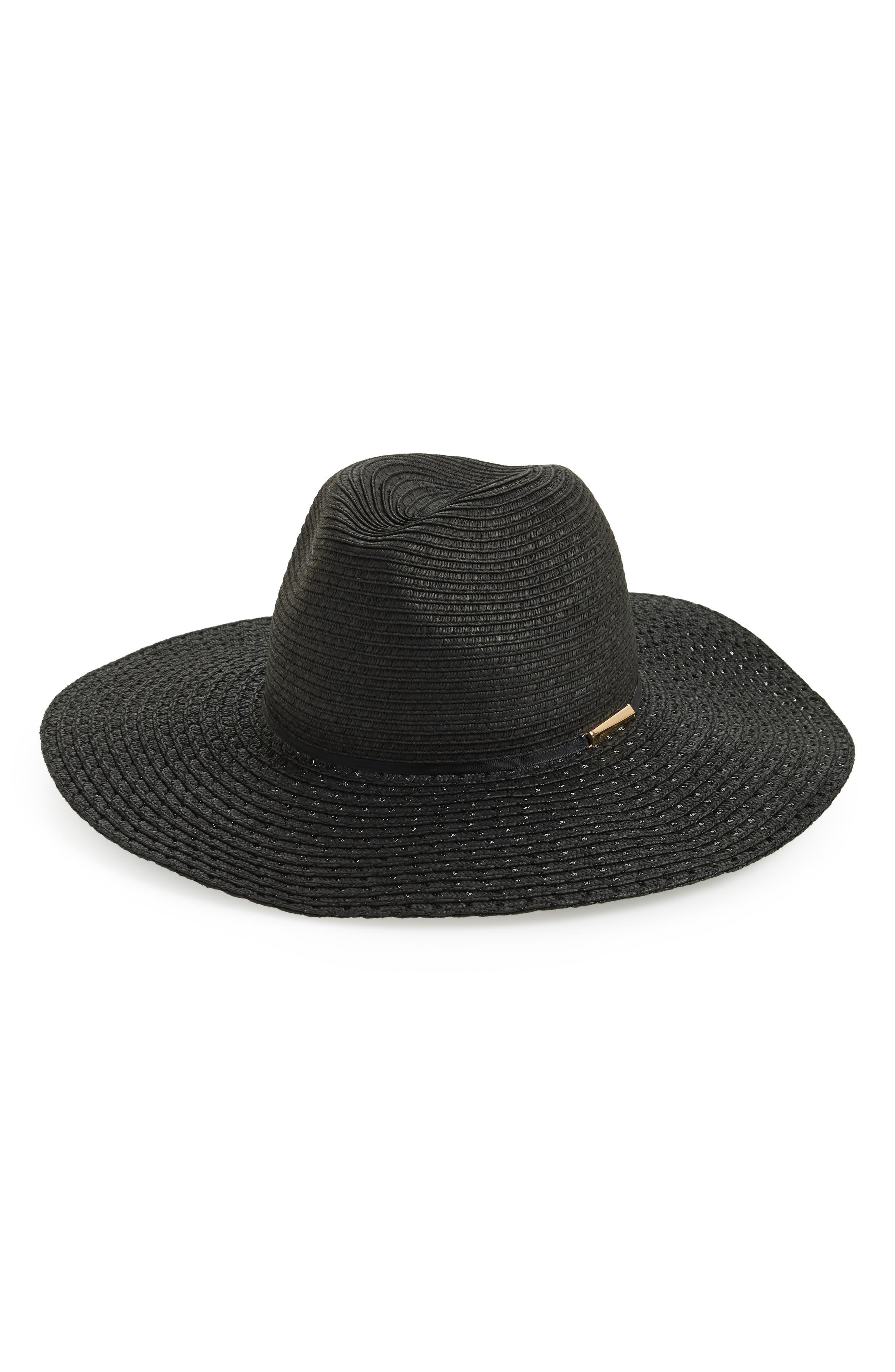 Straw Panama Hat,                             Main thumbnail 1, color,                             001