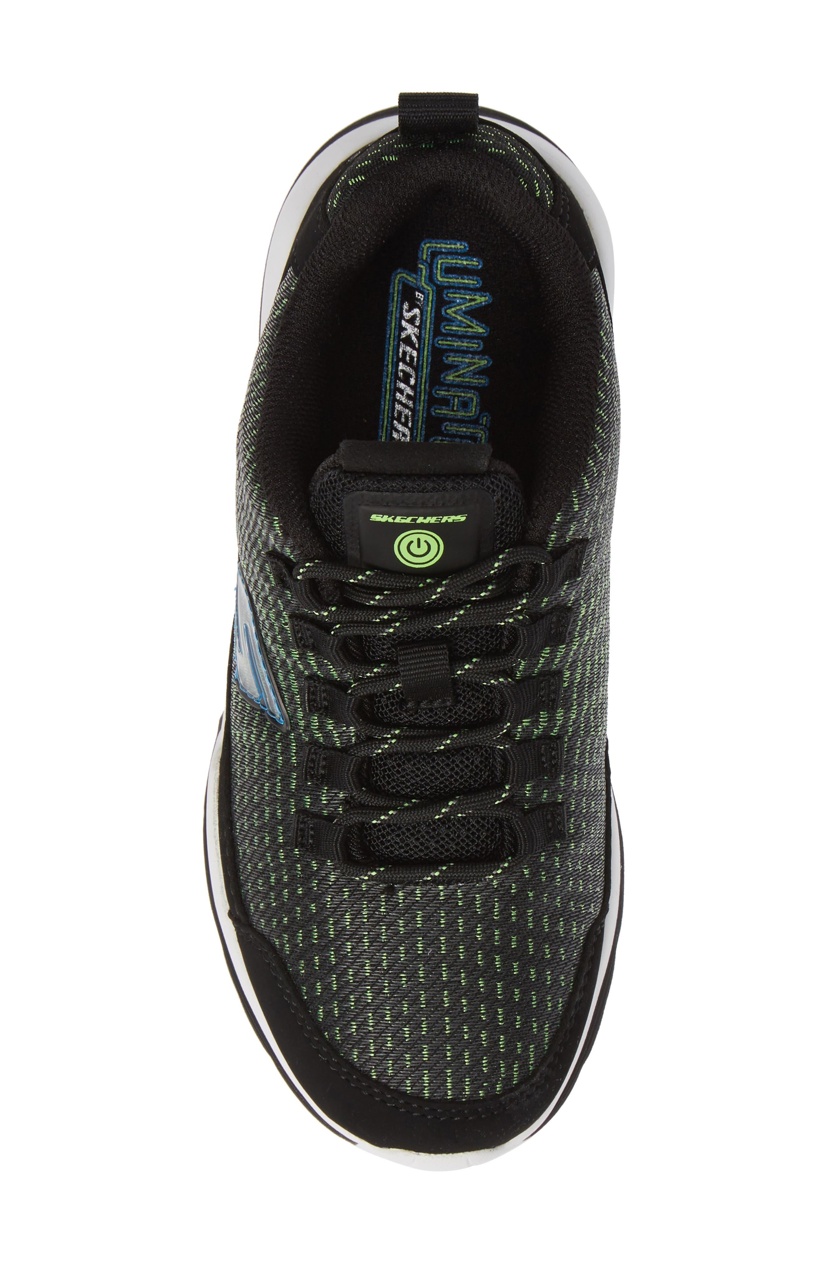 Luminators Sneaker,                             Alternate thumbnail 5, color,                             BLACK/ LIME