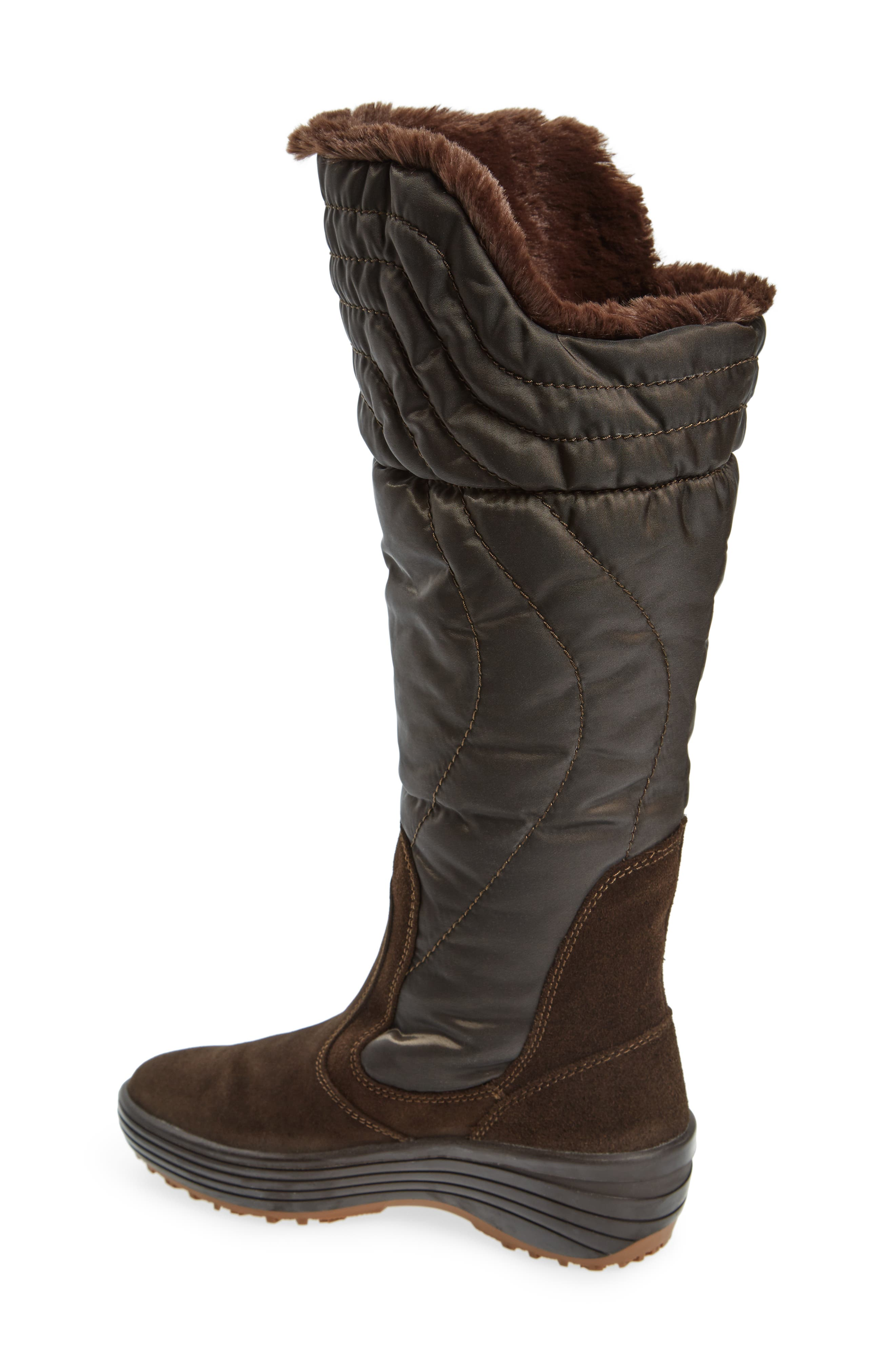 Natasha Faux Fur Lined Waterproof Boot,                             Alternate thumbnail 4, color,
