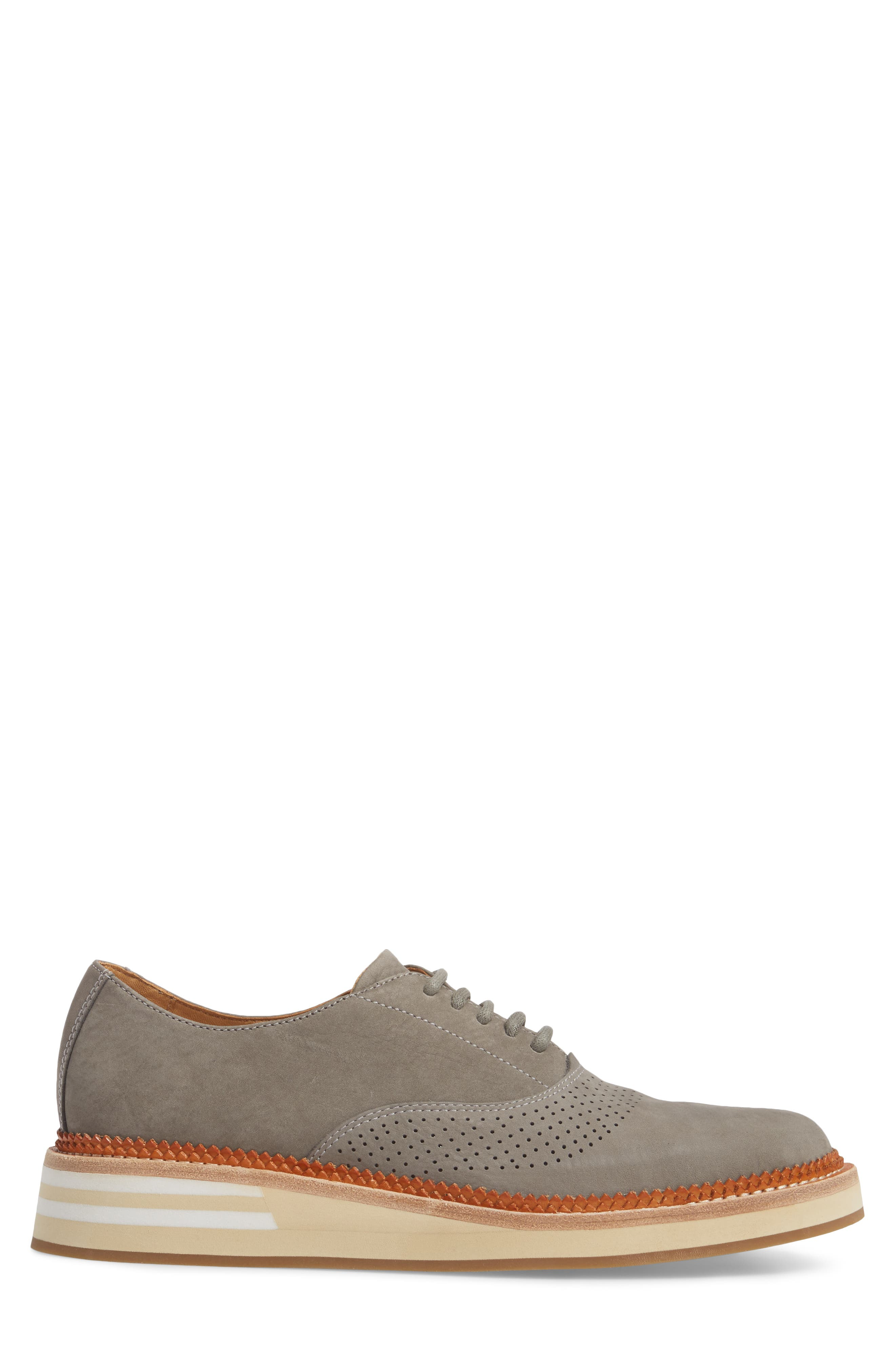 Cloud Perforated Oxford,                             Alternate thumbnail 3, color,                             GREY