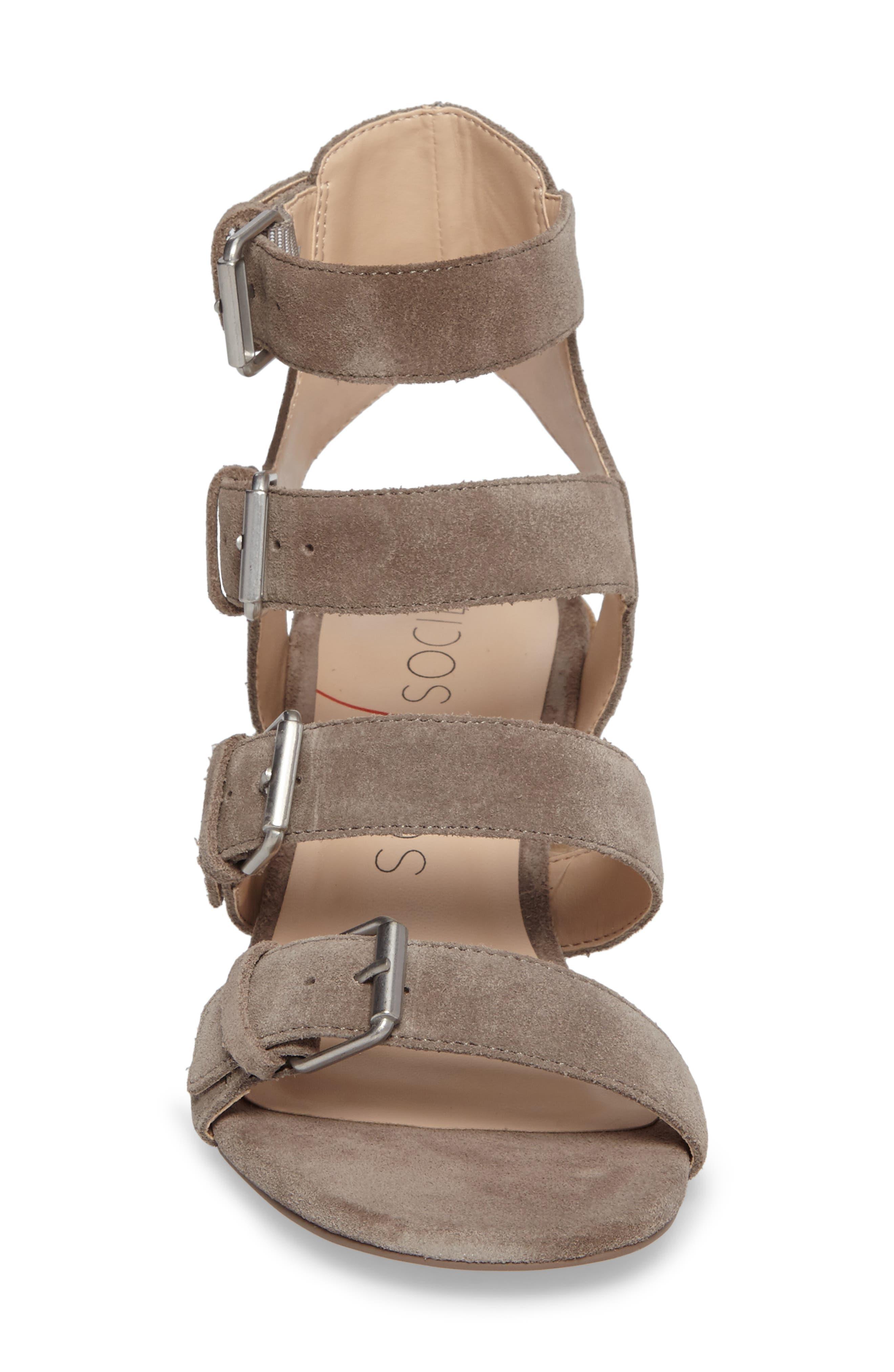 Culver Block Heel Sandal,                             Alternate thumbnail 4, color,                             MUSHROOM SUEDE