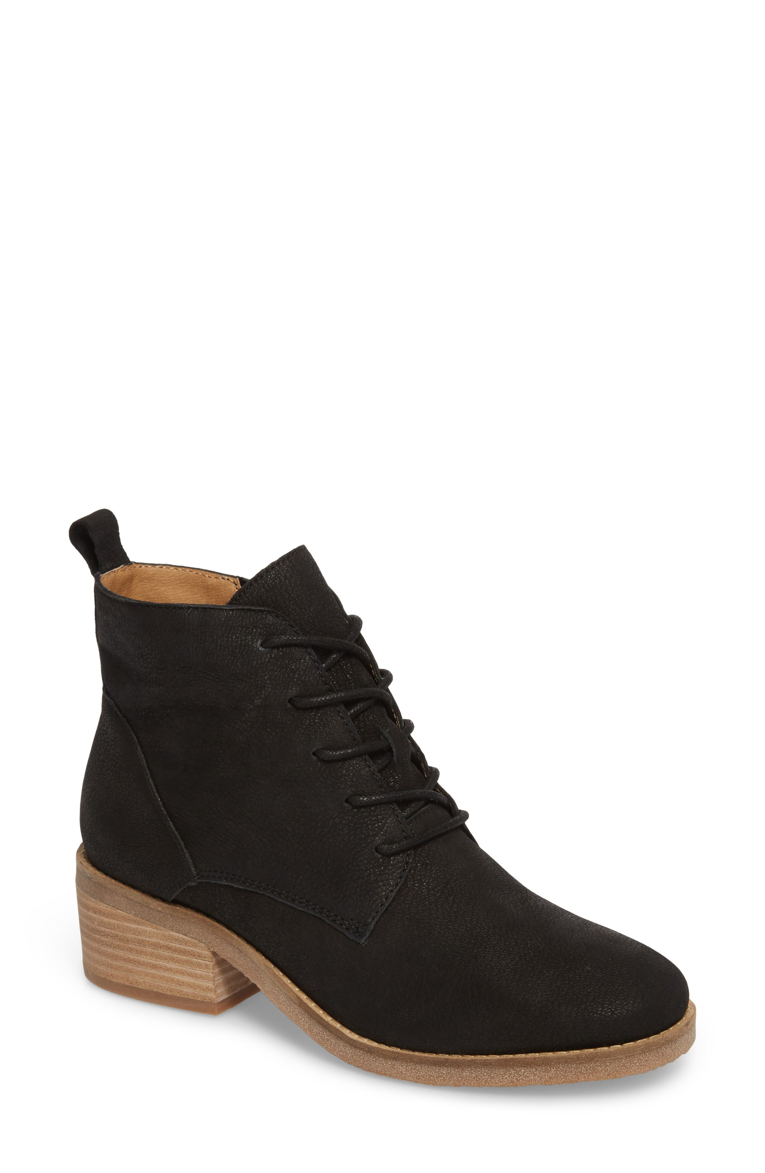 Tamela Lace-Up Bootie,                         Main,                         color, 001