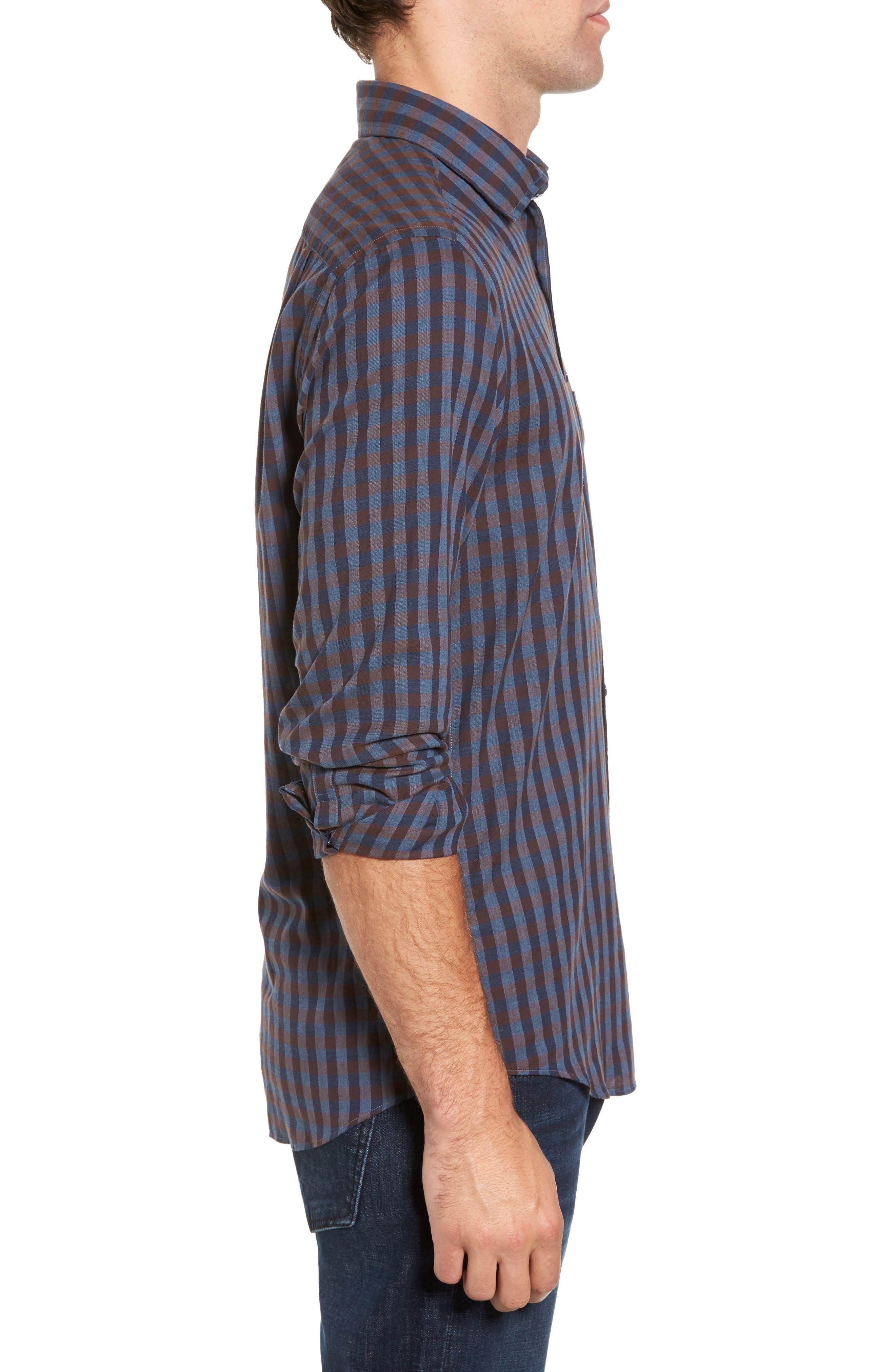 Gisborne Point Check Sport Shirt,                             Alternate thumbnail 3, color,