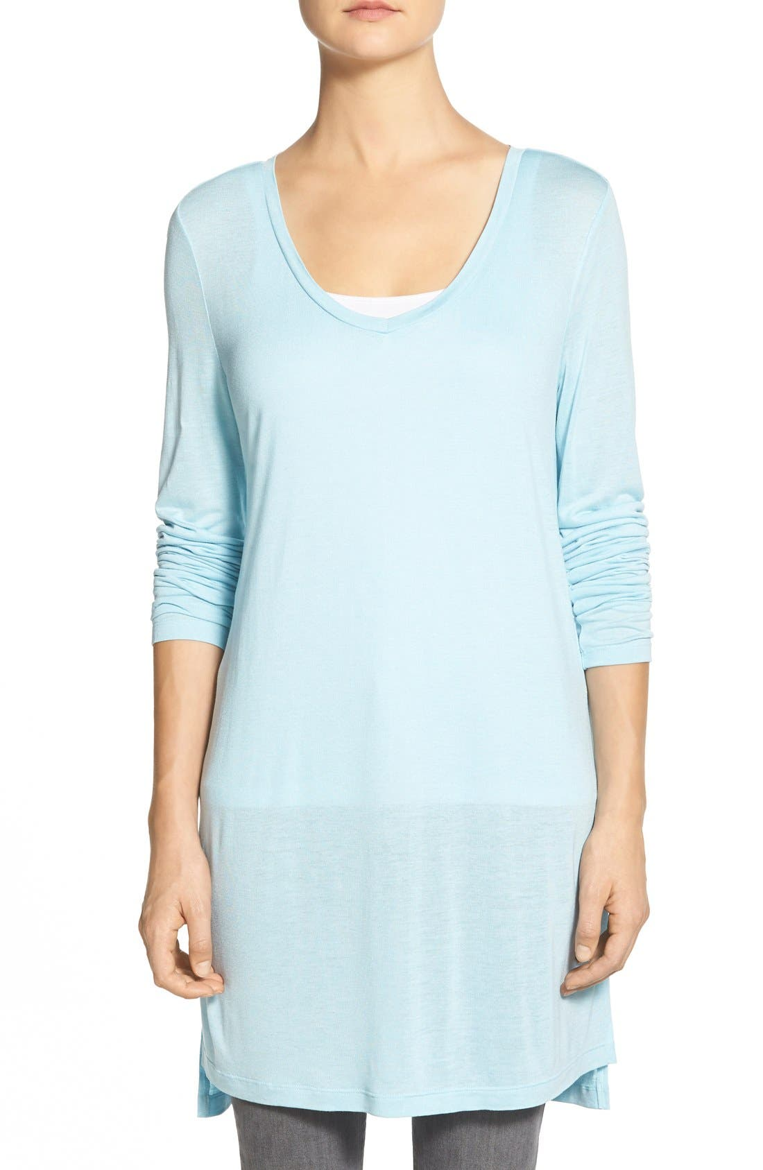 Long Sleeve Lightweight Tunic,                             Main thumbnail 7, color,