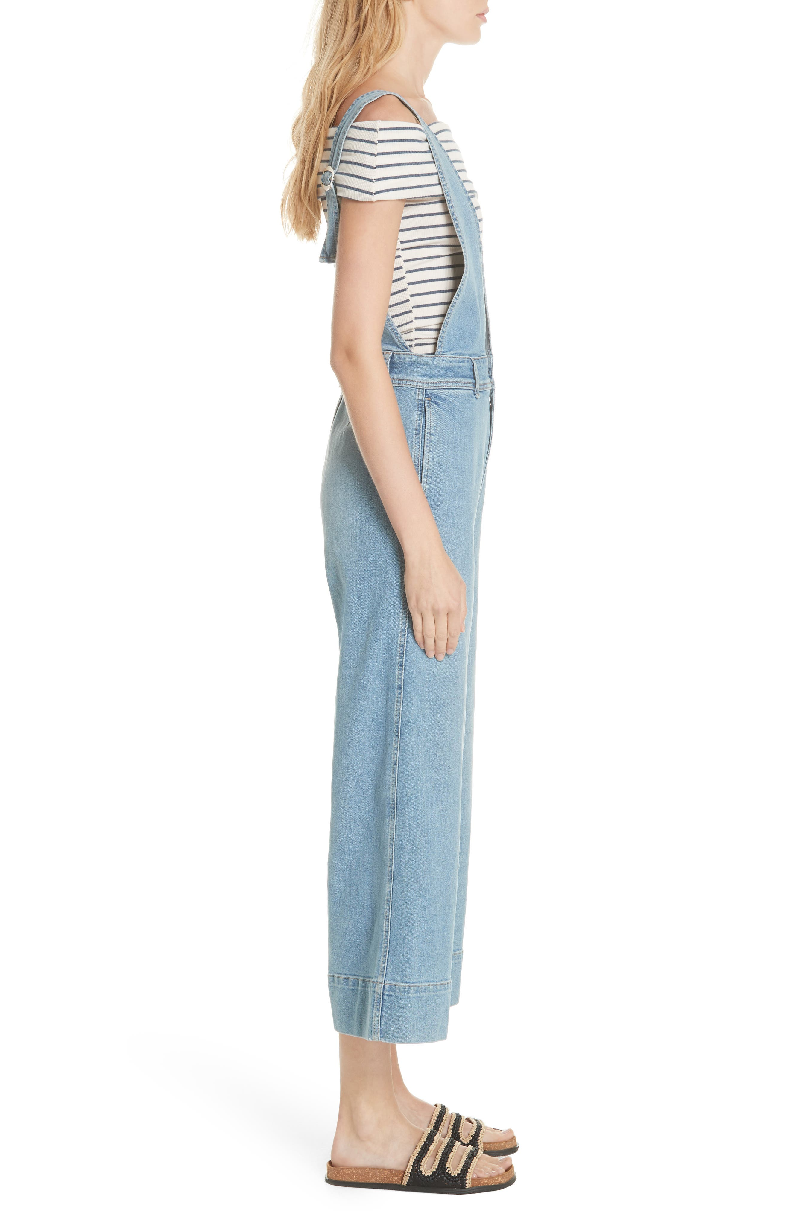 We the Free by Free People A-Line Overalls,                             Alternate thumbnail 3, color,                             456