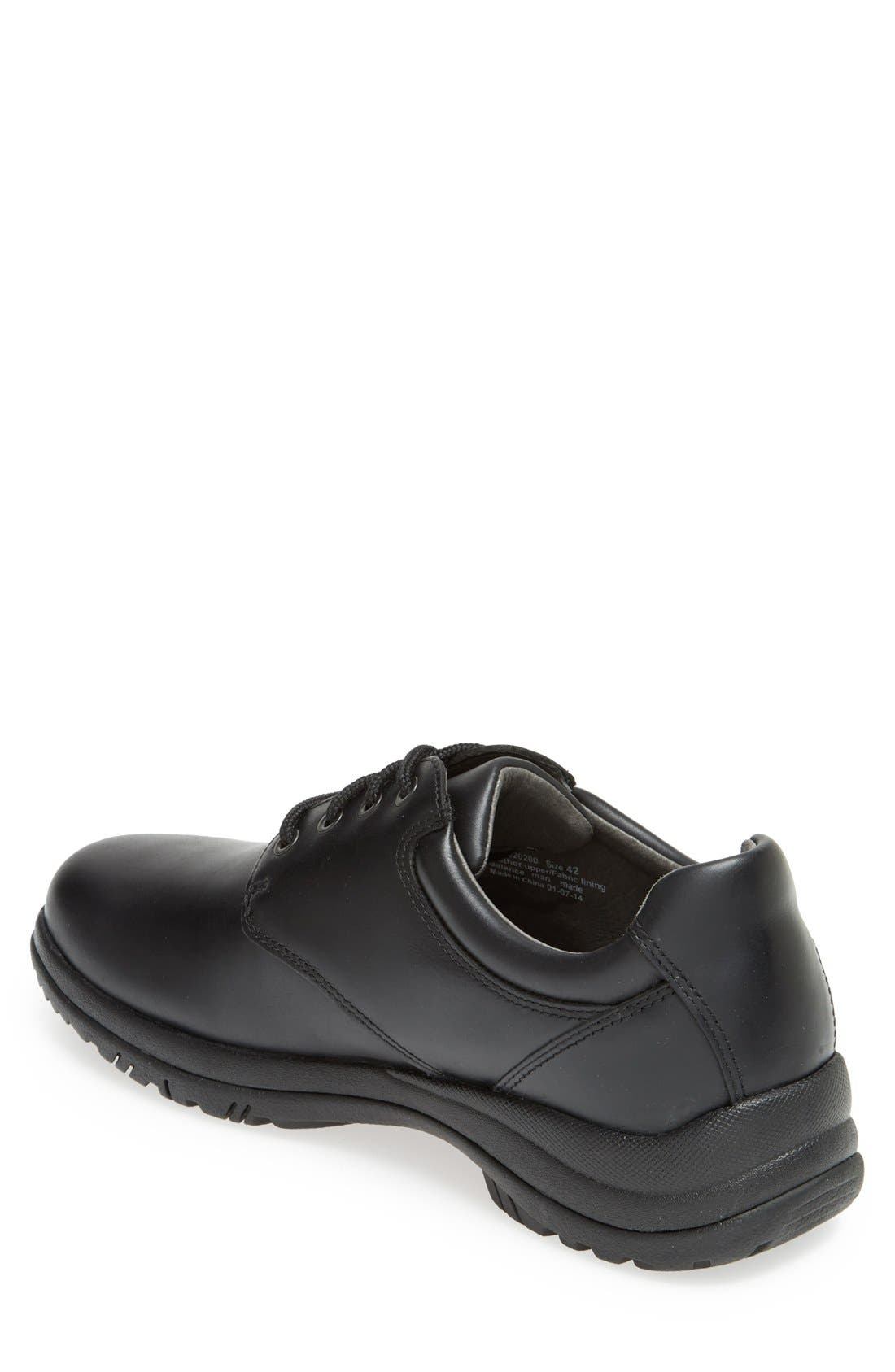 'Walker' Plain Toe Derby,                             Alternate thumbnail 2, color,                             BLACK SMOOTH