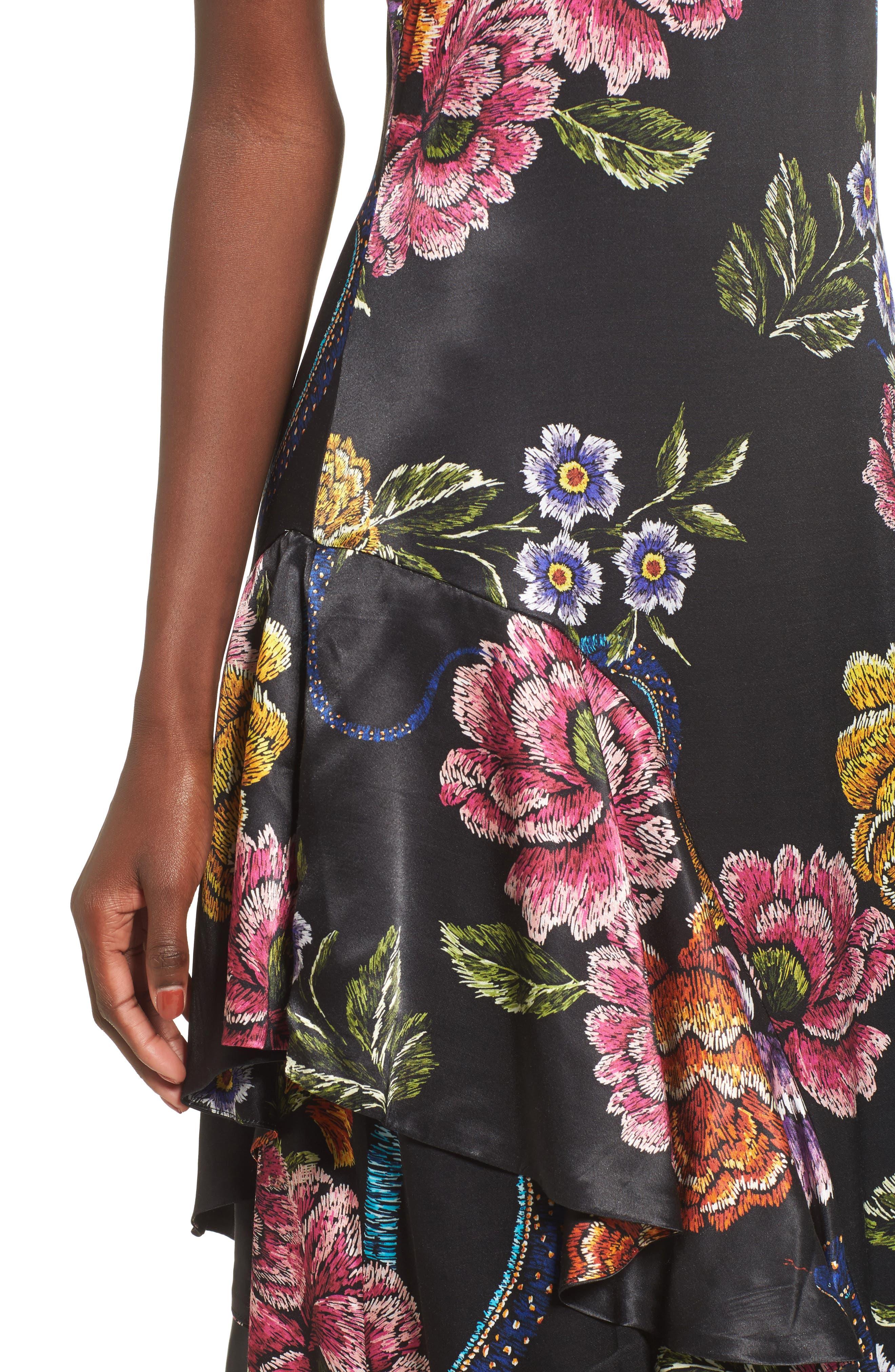 Florence Ruffle Maxi Dress,                             Alternate thumbnail 4, color,