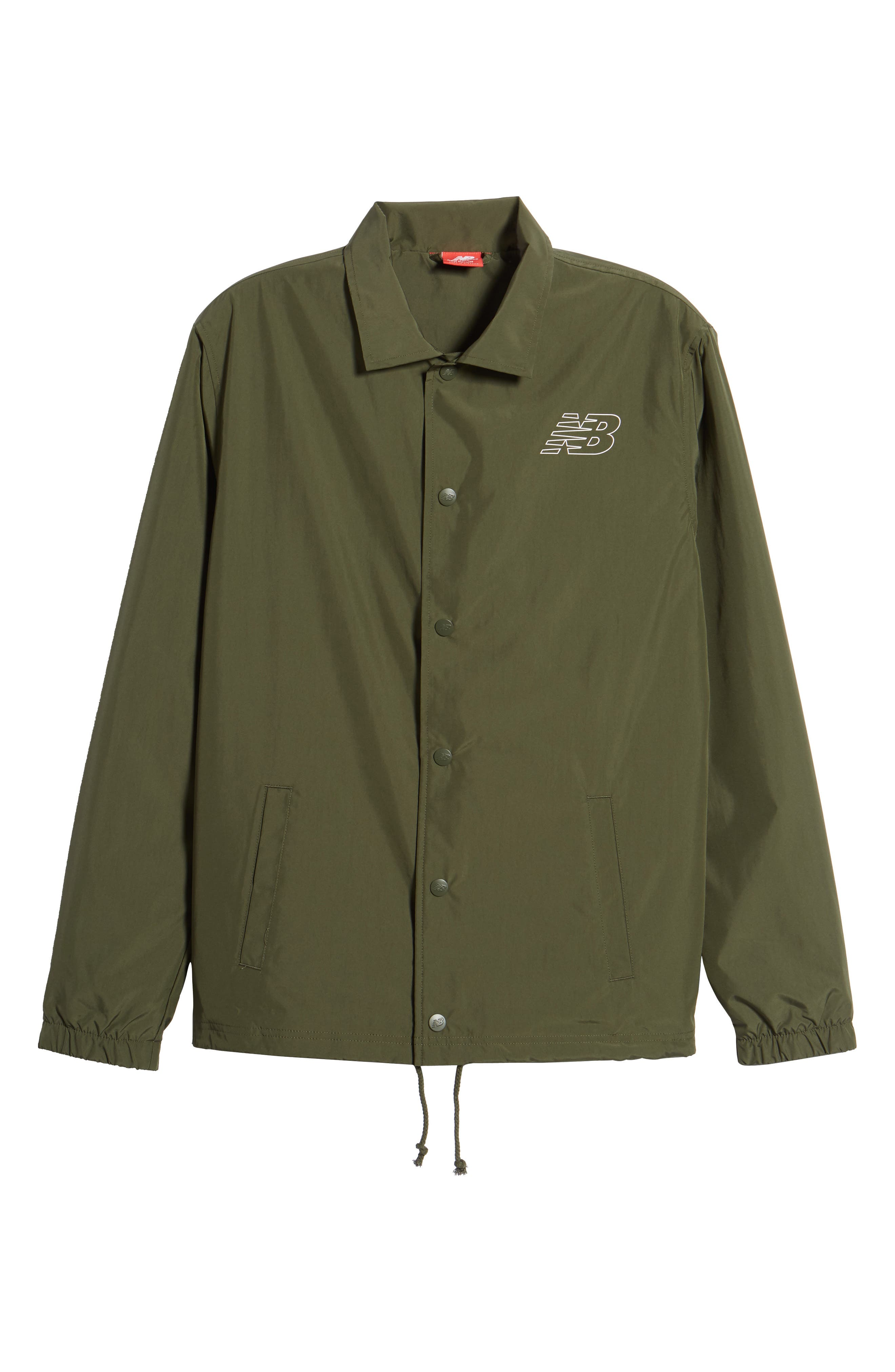 Classic Coach's Jacket,                             Alternate thumbnail 5, color,                             DARK COVERT GREEN