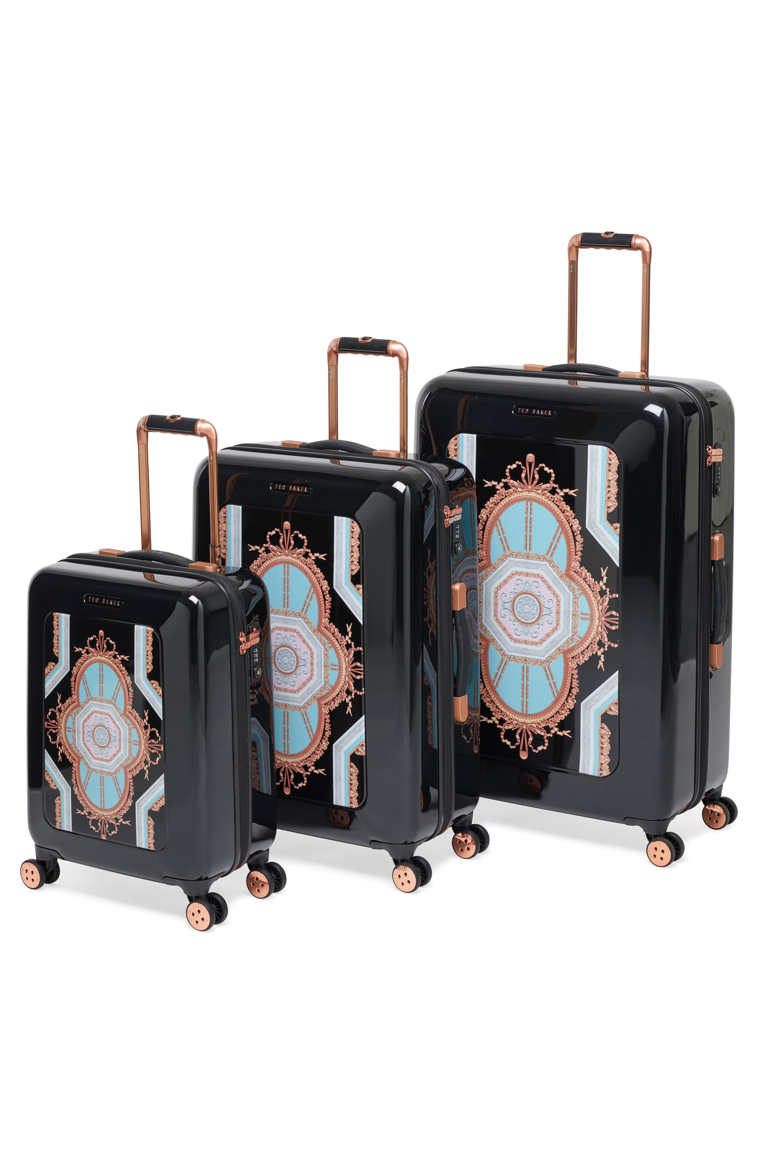 Large Versailles 32-Inch Hard Shell Spinner Suitcase,                             Alternate thumbnail 8, color,                             001