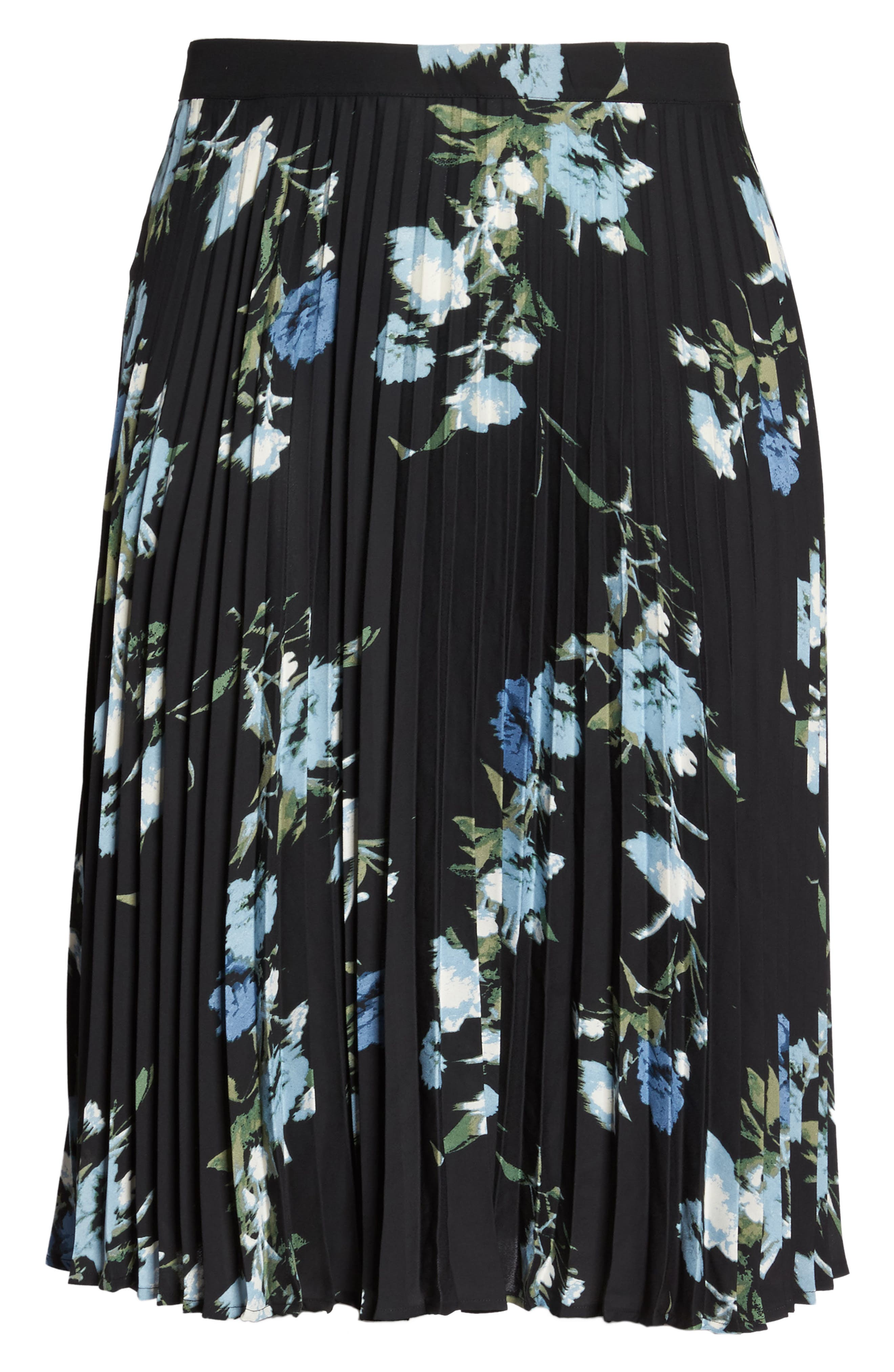 Windswept Bouquet Pleated Skirt,                             Alternate thumbnail 6, color,                             401
