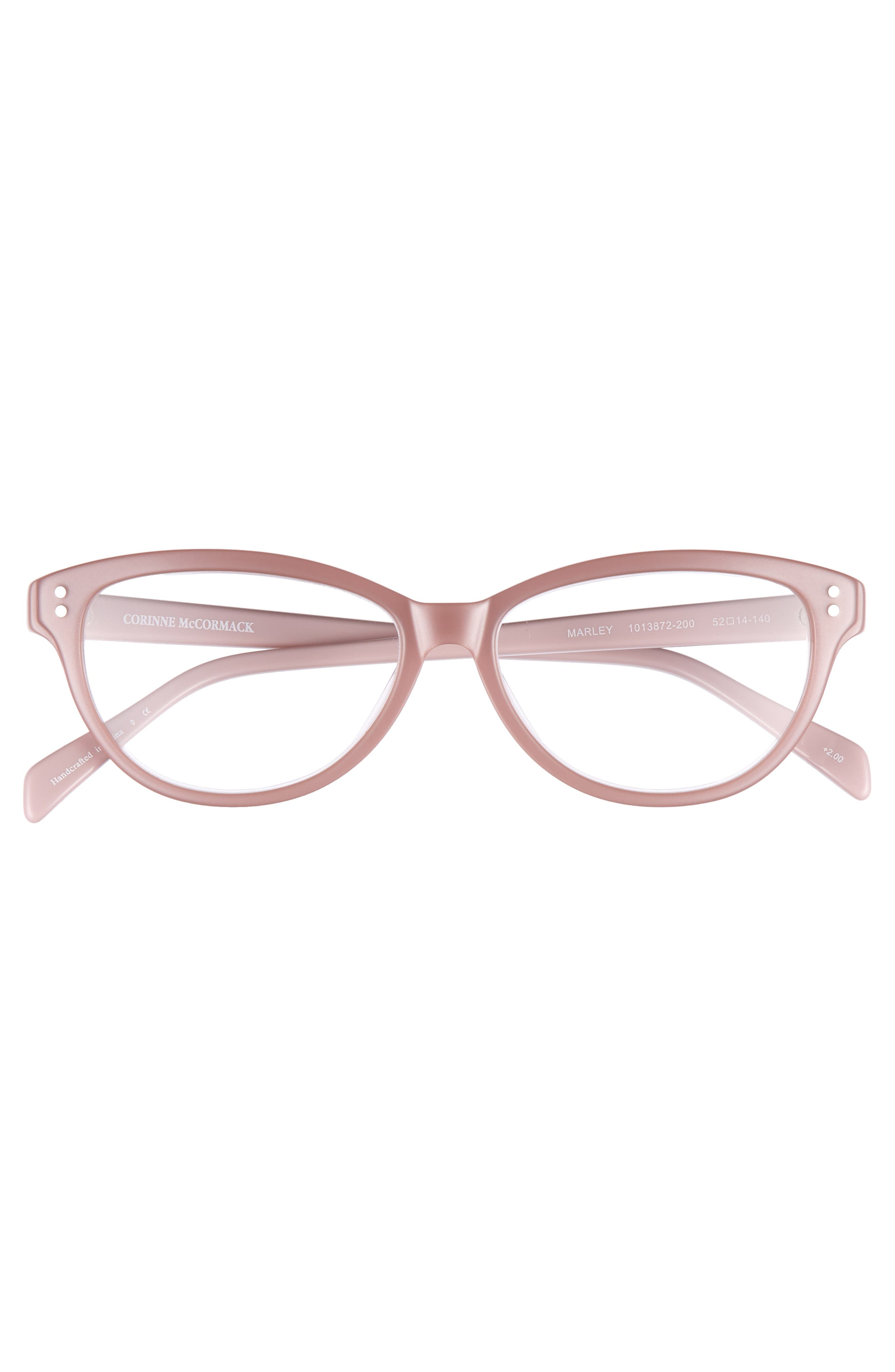 Marley 52mm Reading Glasses,                             Alternate thumbnail 3, color,                             PINK
