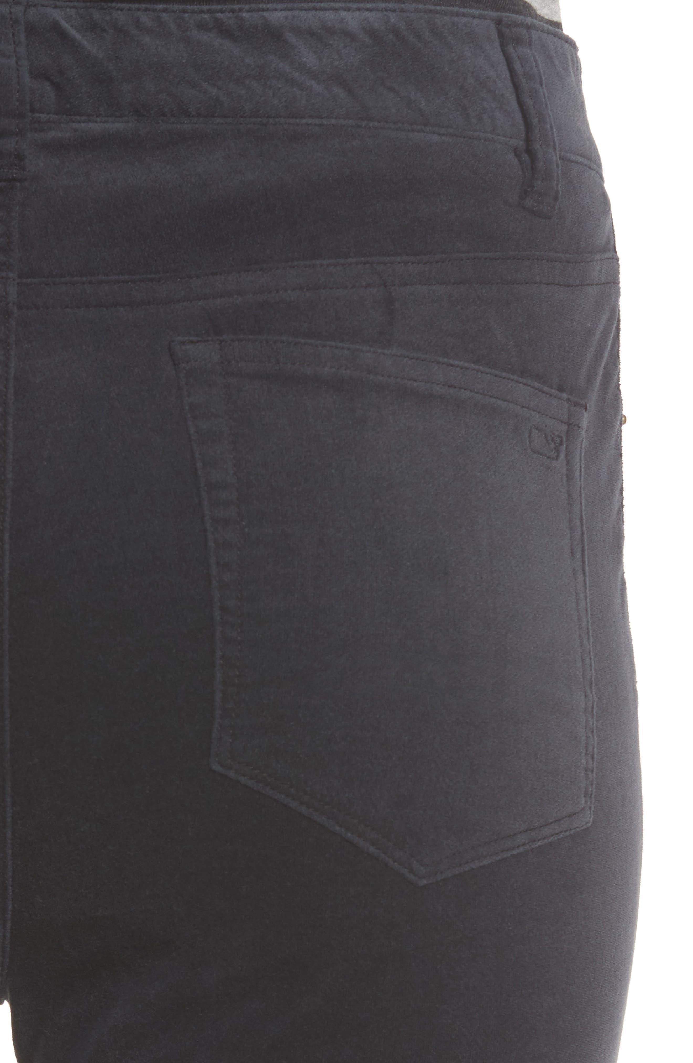Velvet Skinny Jeans,                             Alternate thumbnail 4, color,                             002